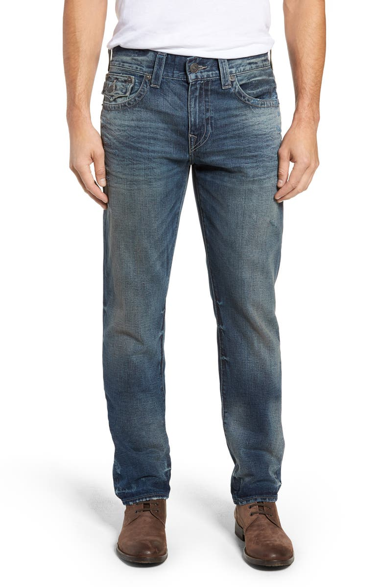 true religion brand jeans geno straight leg jeans combat. Black Bedroom Furniture Sets. Home Design Ideas