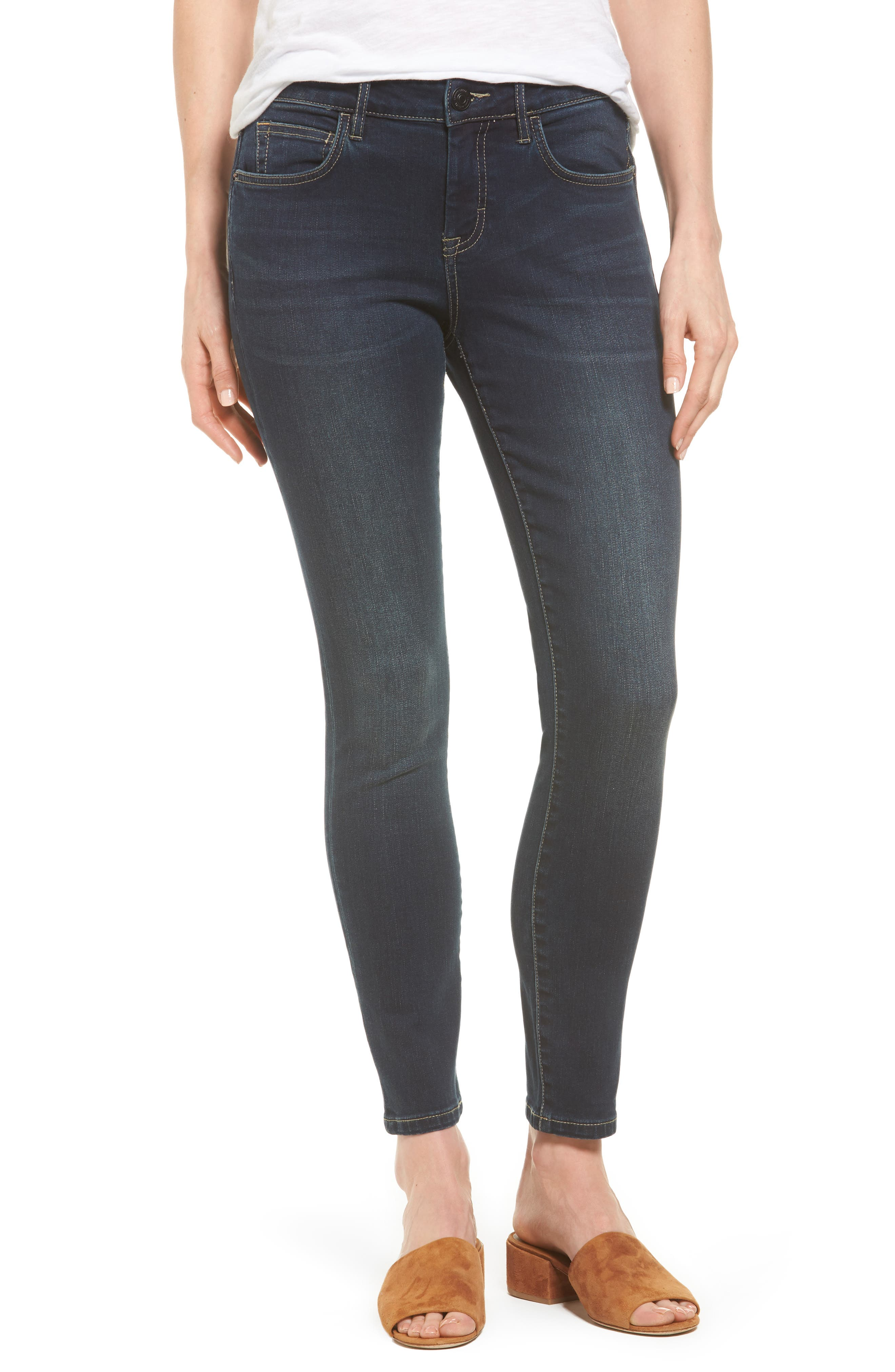 TOMMY BAHAMA, Tema Stretch Skinny Jeans, Main thumbnail 1, color, DARK OCEAN WASH