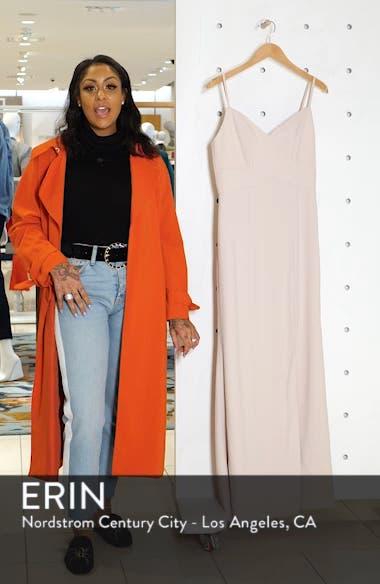 Crisscross Seam Crepe Gown, sales video thumbnail