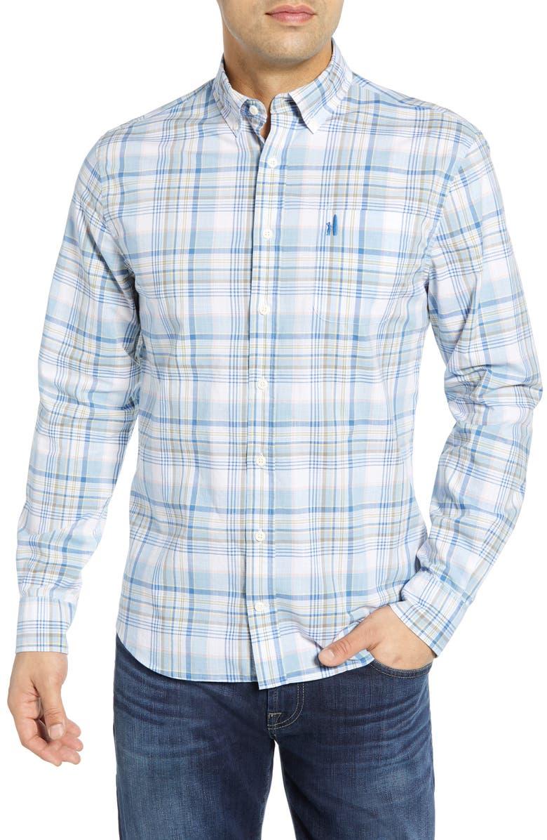 Johnnie-O T-shirts ROONEY CLASSIC FIT PLAID SPORT SHIRT