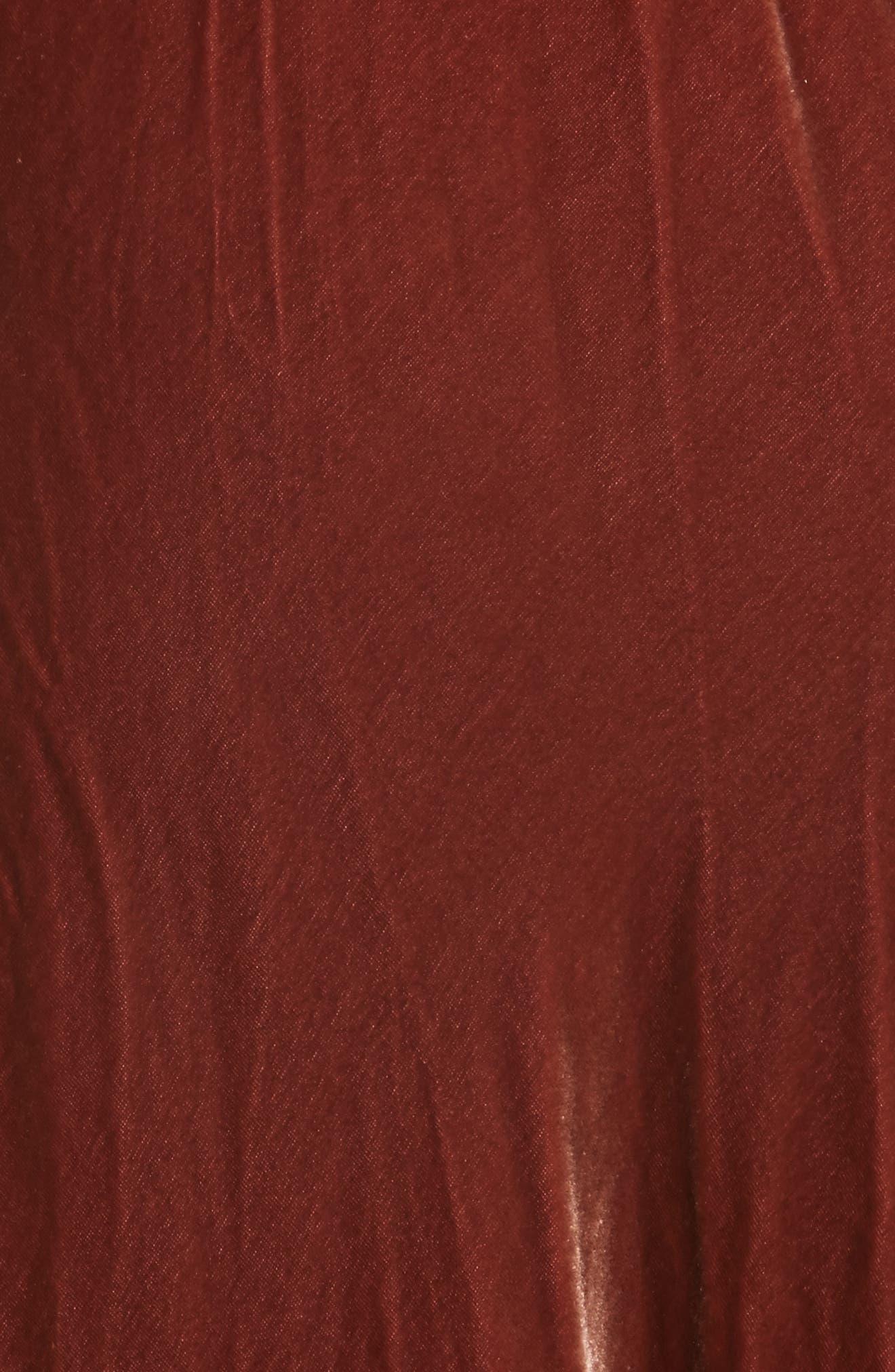 FRAME, Velvet Slipdress, Alternate thumbnail 5, color, 650