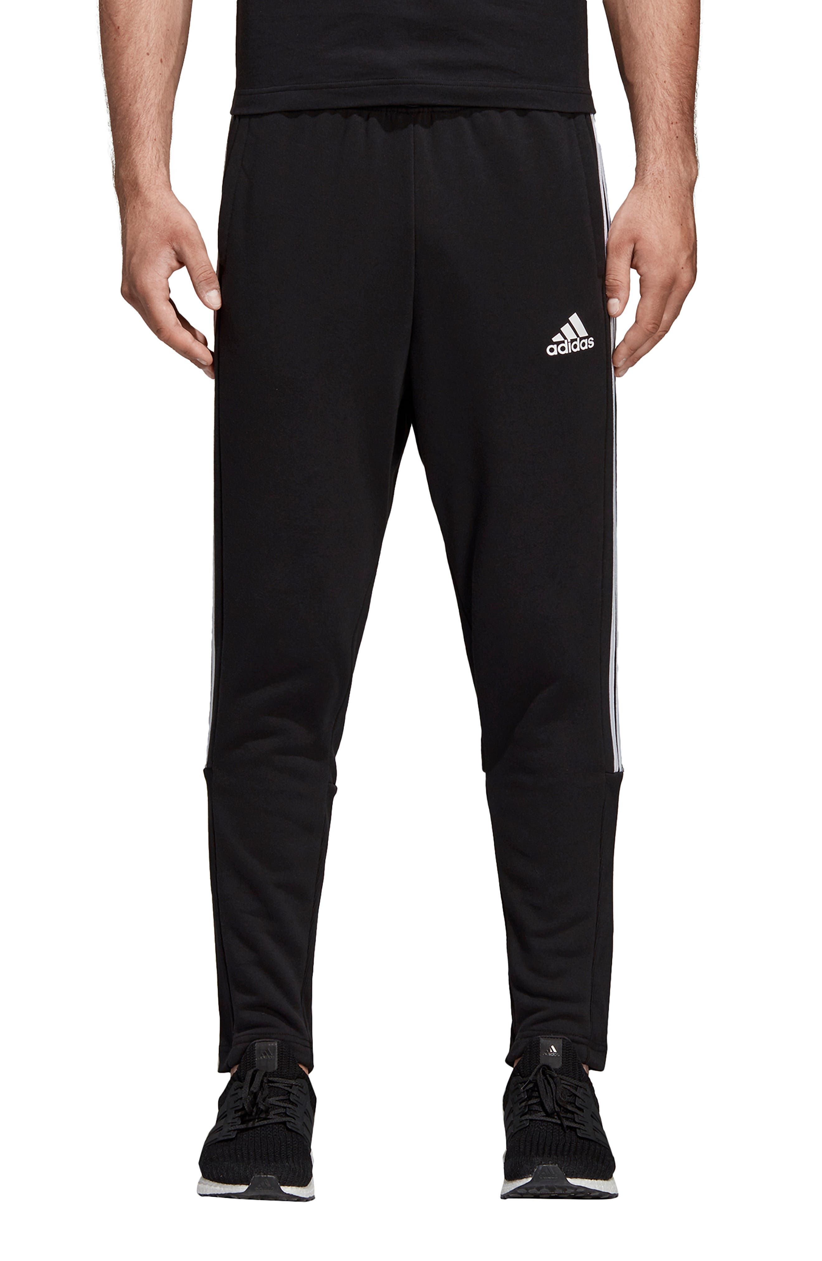 ADIDAS, MH 3S Tiro Sweatpants, Main thumbnail 1, color, BLACK/ WHITE