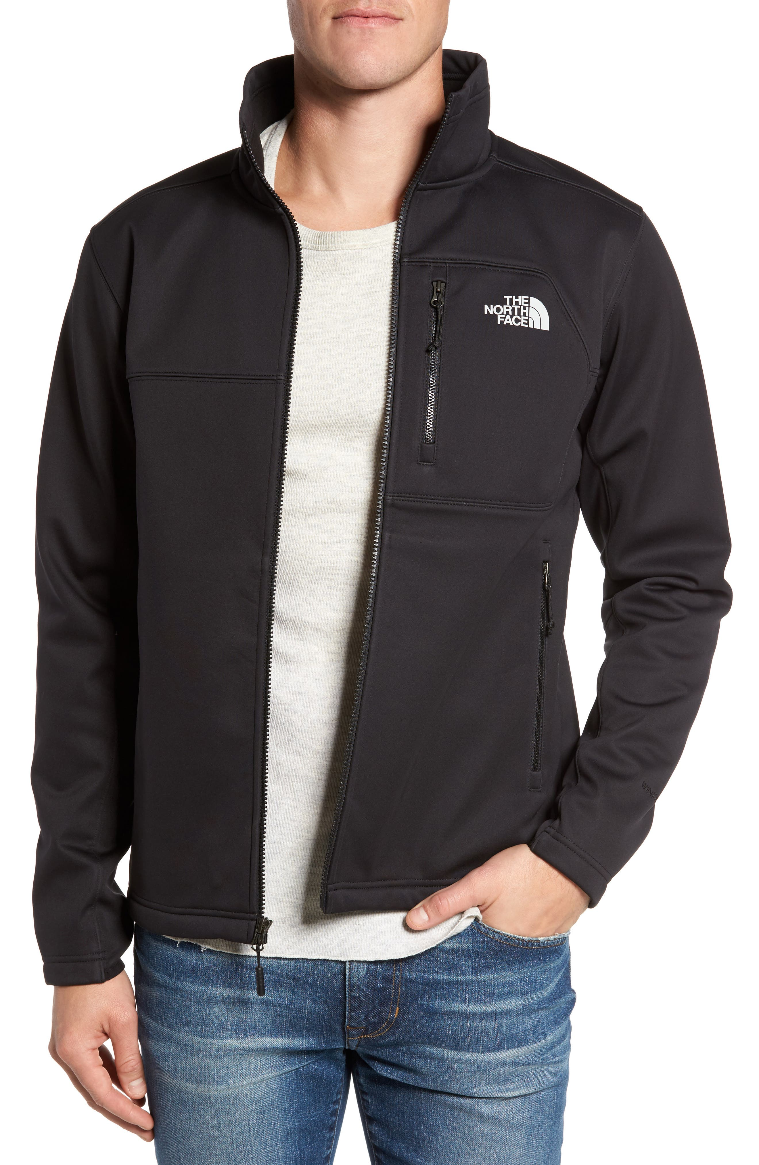THE NORTH FACE Apex Risor Jacket, Main, color, BLACK/ BLACK
