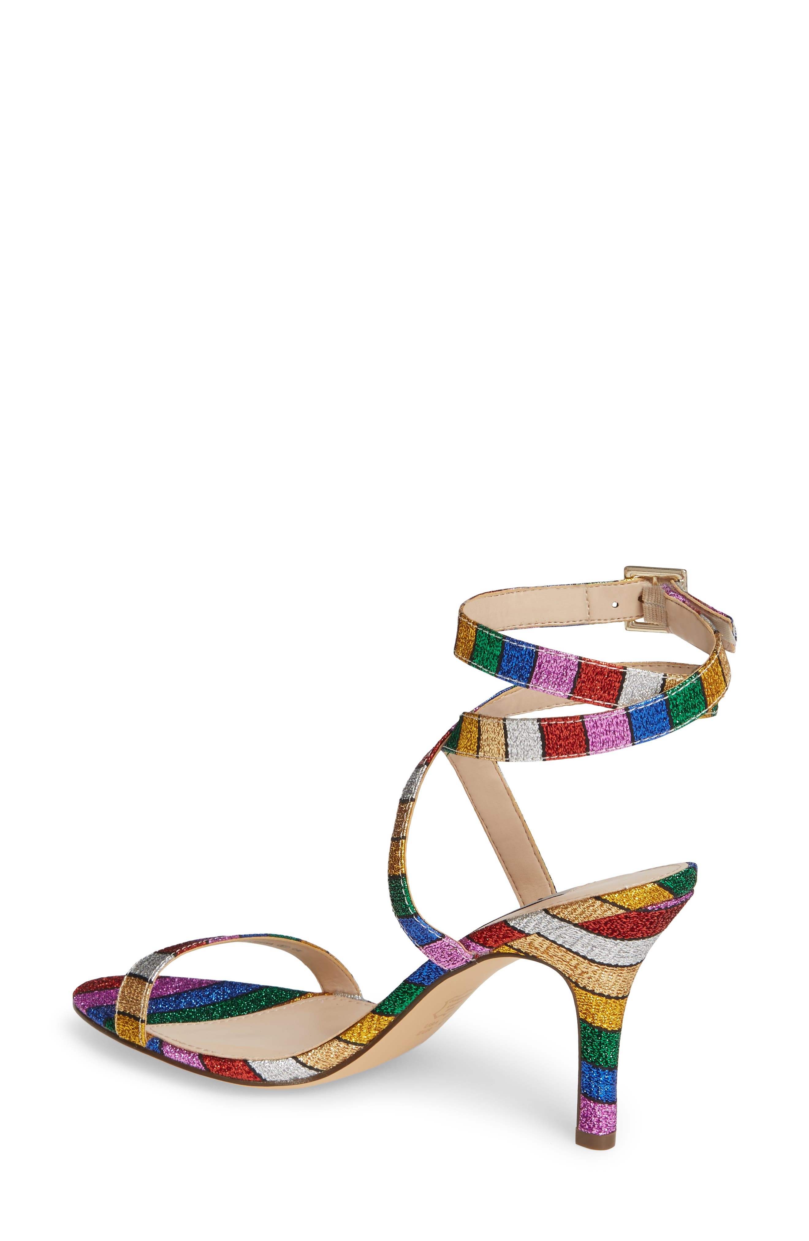 NINA, Vanna Ankle Strap Sandal, Alternate thumbnail 2, color, RAINBOW MULTI FABRIC
