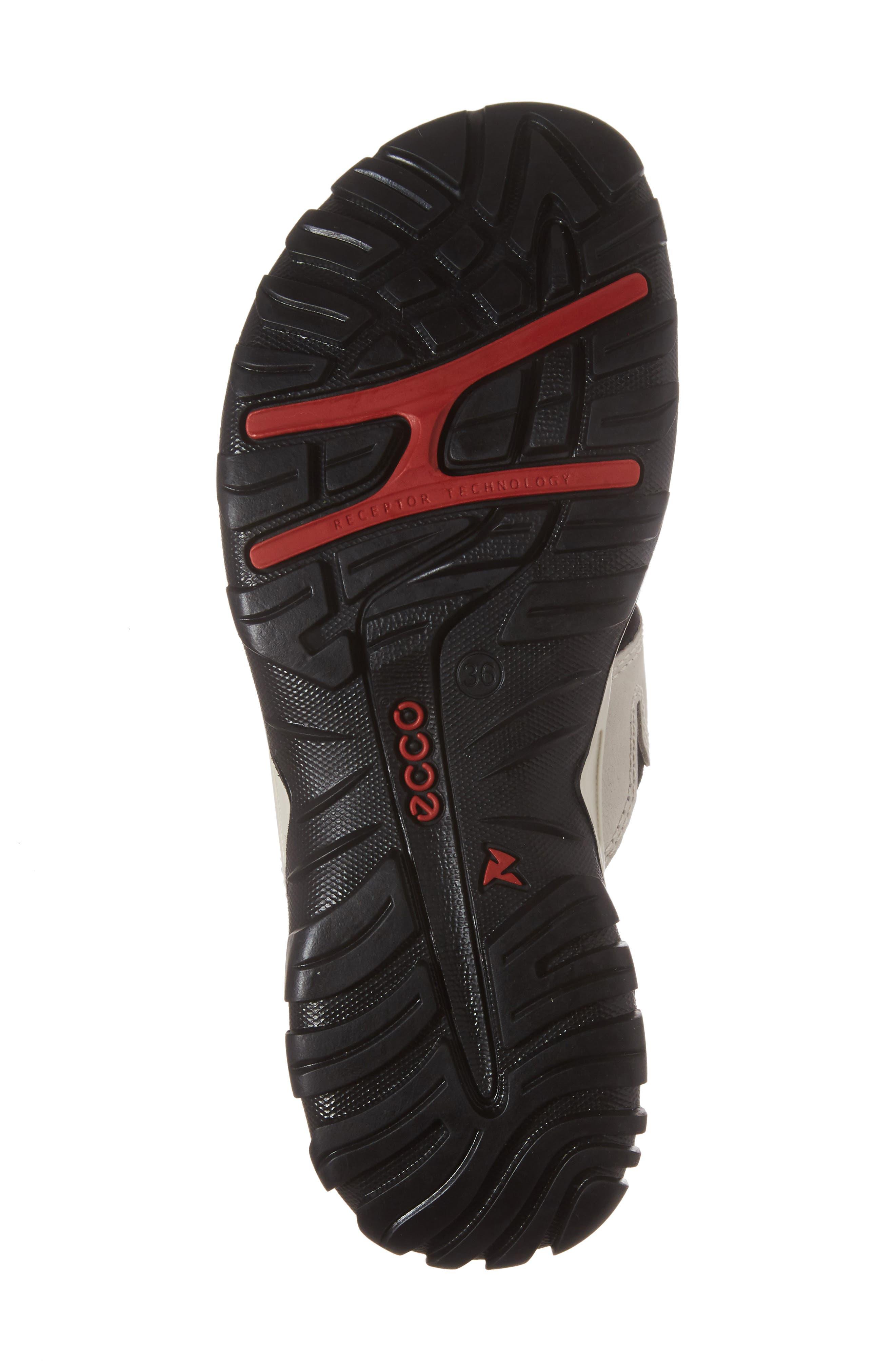 ECCO, Offroad Lite Slide Sandal, Alternate thumbnail 6, color, GRAVEL/ BLACK LEATHER