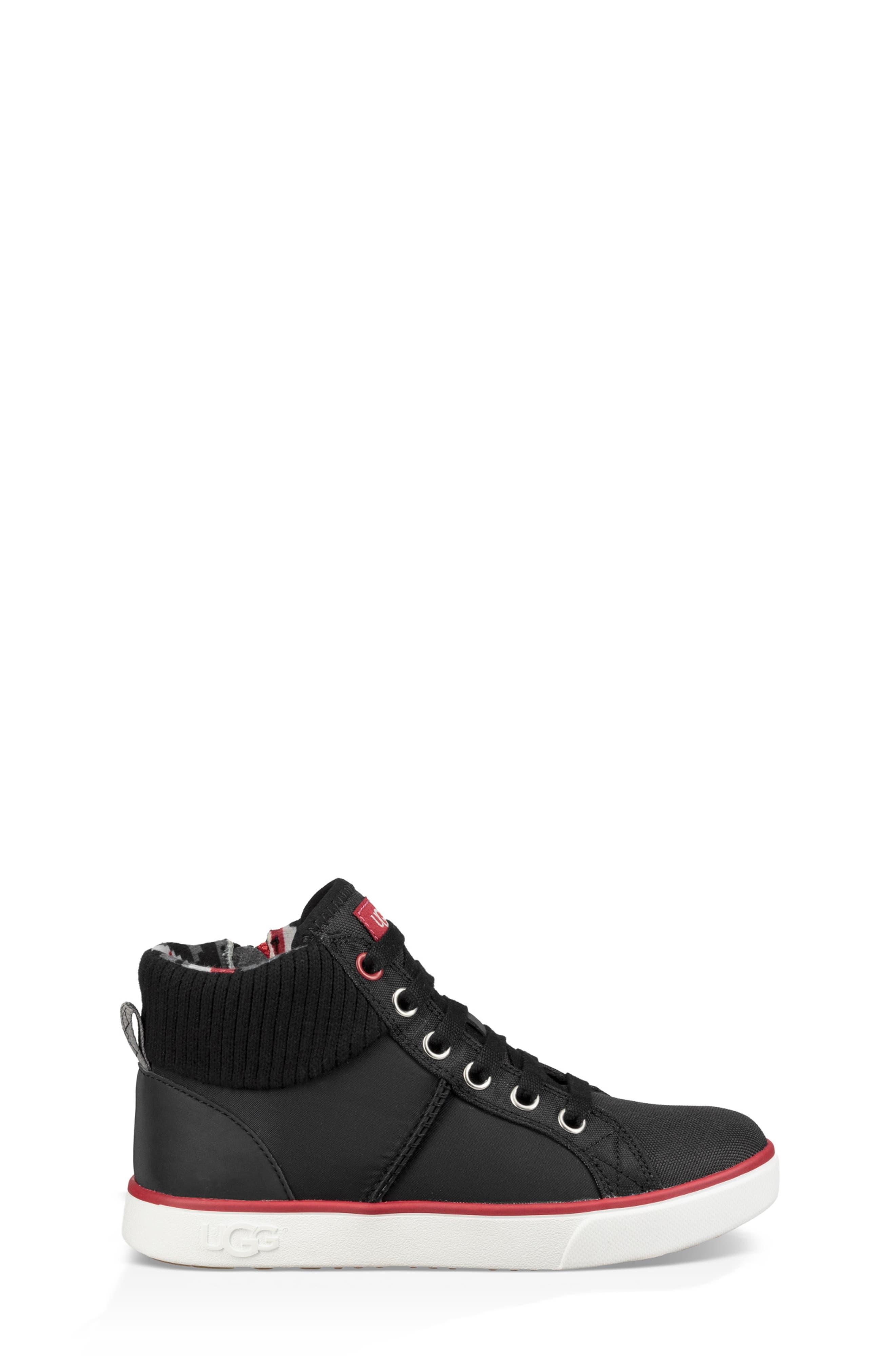 UGG<SUP>®</SUP>, Boscoe Sneaker, Alternate thumbnail 3, color, 001