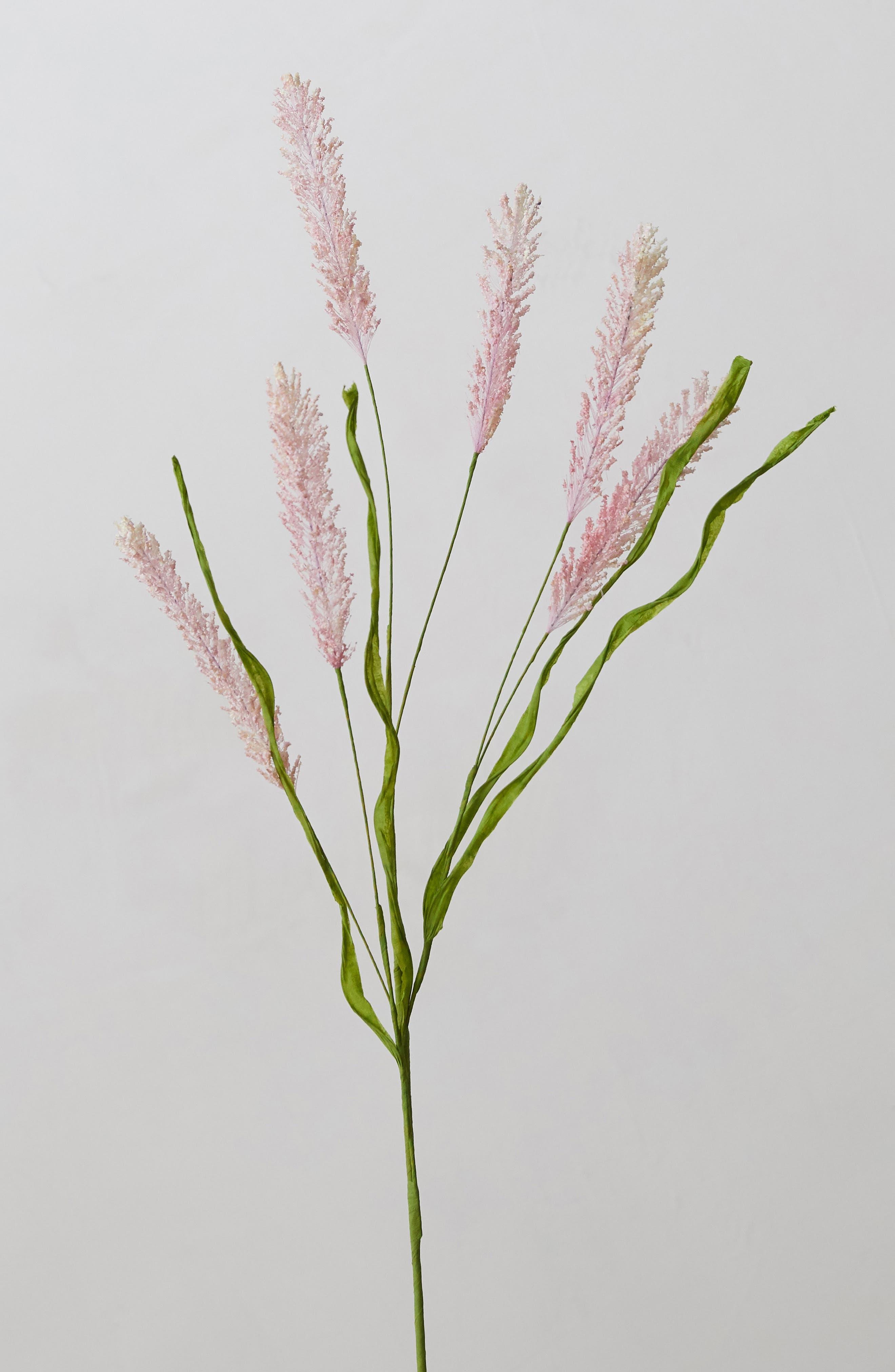 TERRAIN Faux Floral Grass Spray, Main, color, PINK
