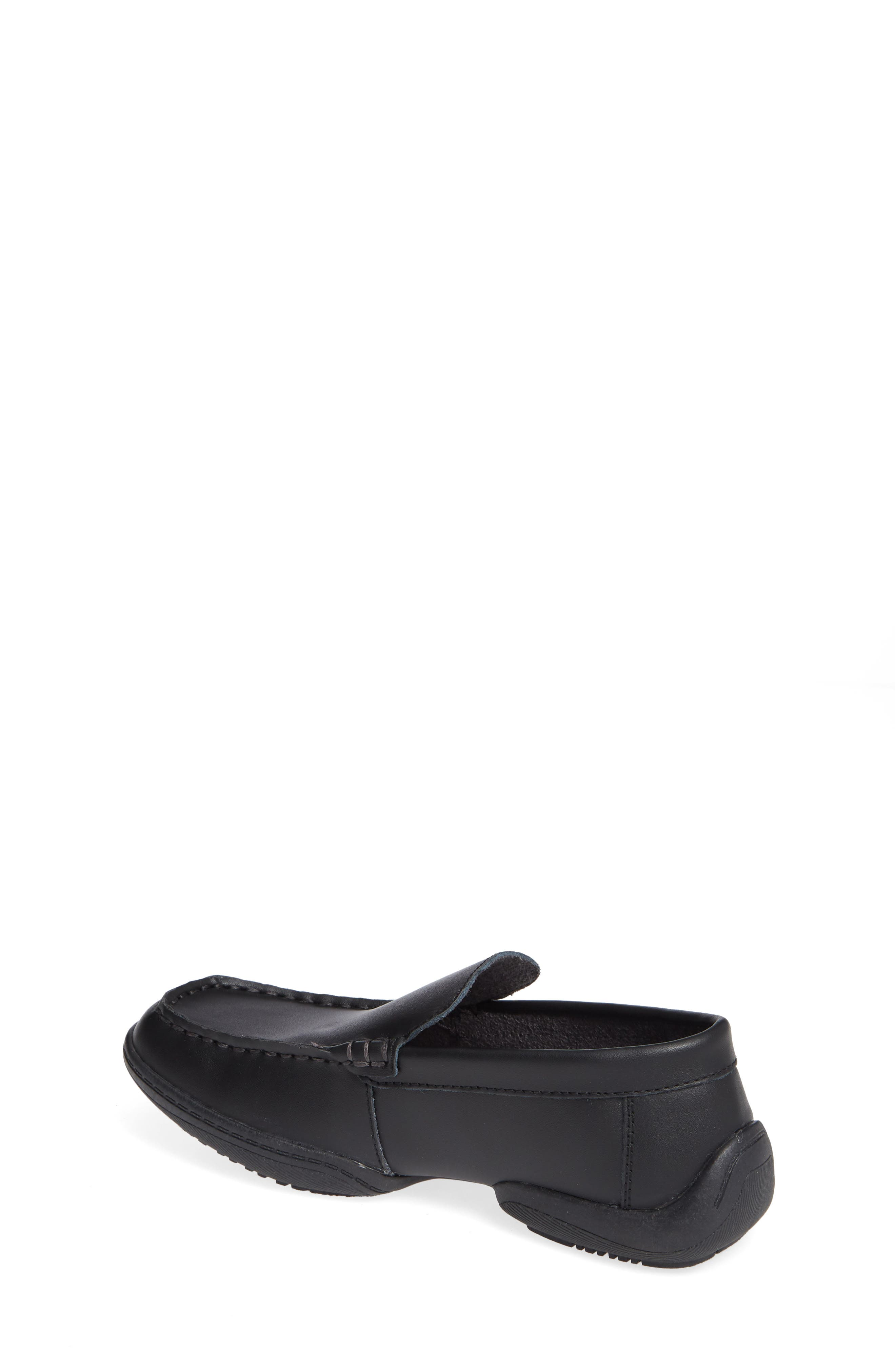 REACTION KENNETH COLE, Driving Dime Moccasin, Alternate thumbnail 2, color, DARK BLACK LEATHER