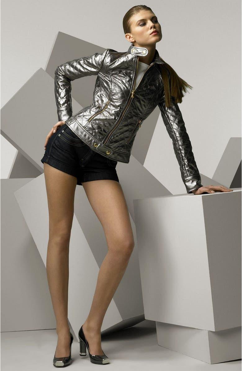 bdcf264b687 DOLCE GABBANA Dolce   Gabbana Quilted Metallic Leather Bomber Jacket