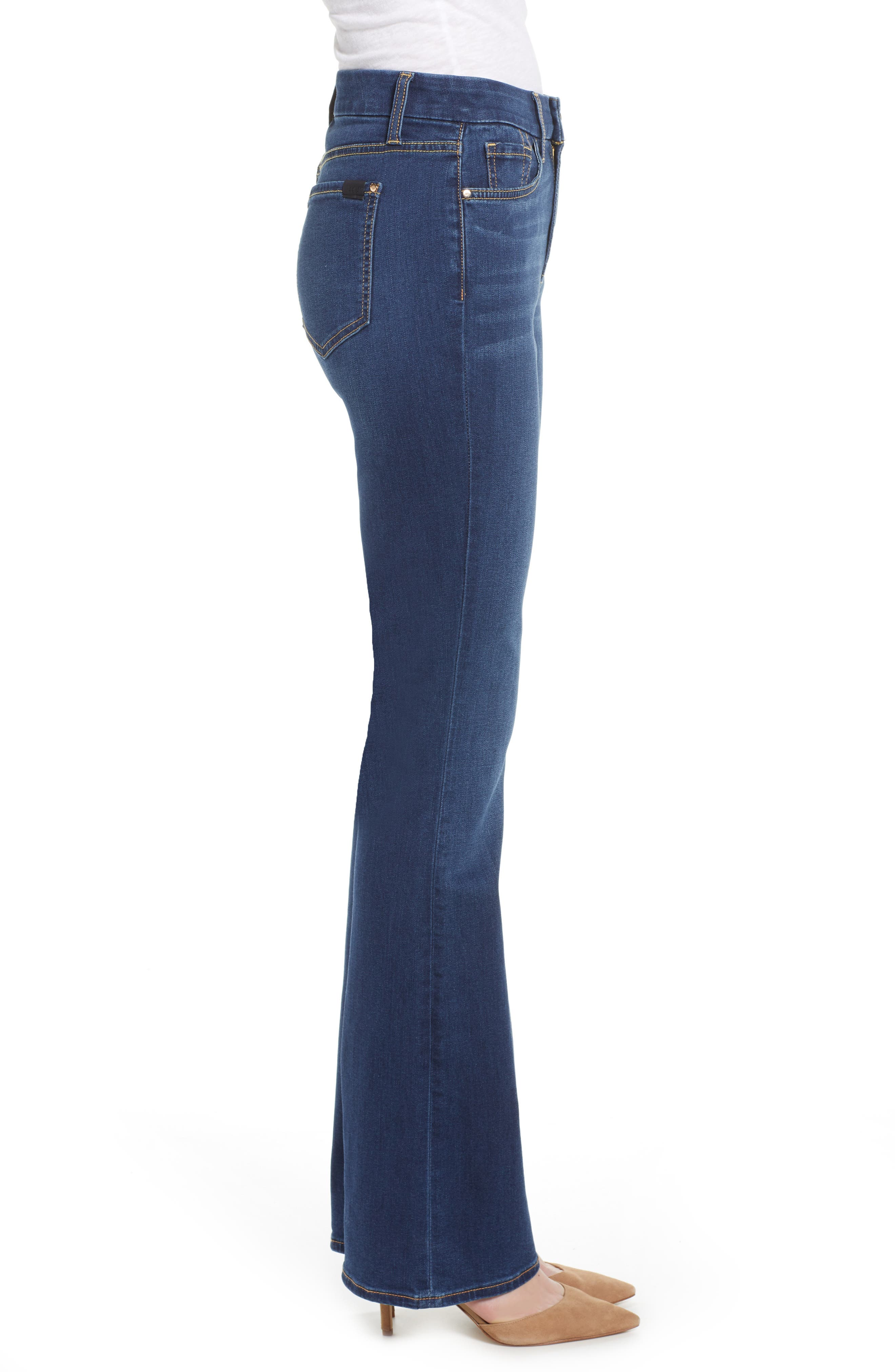 JEN7 BY 7 FOR ALL MANKIND, Slim Bootcut Jeans, Alternate thumbnail 4, color, CLASSIC MEDIUM BLUE