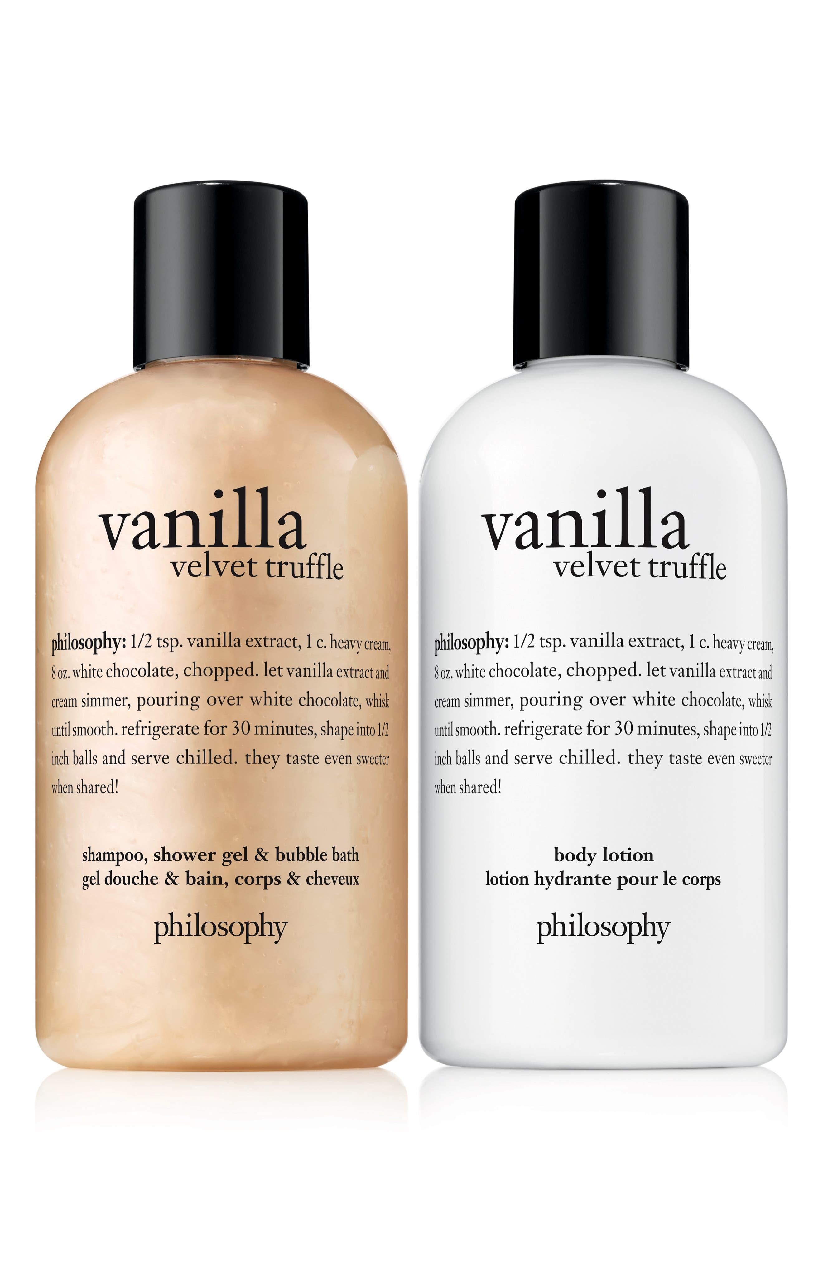 PHILOSOPHY, vanilla velvet truffle duo, Alternate thumbnail 2, color, 000
