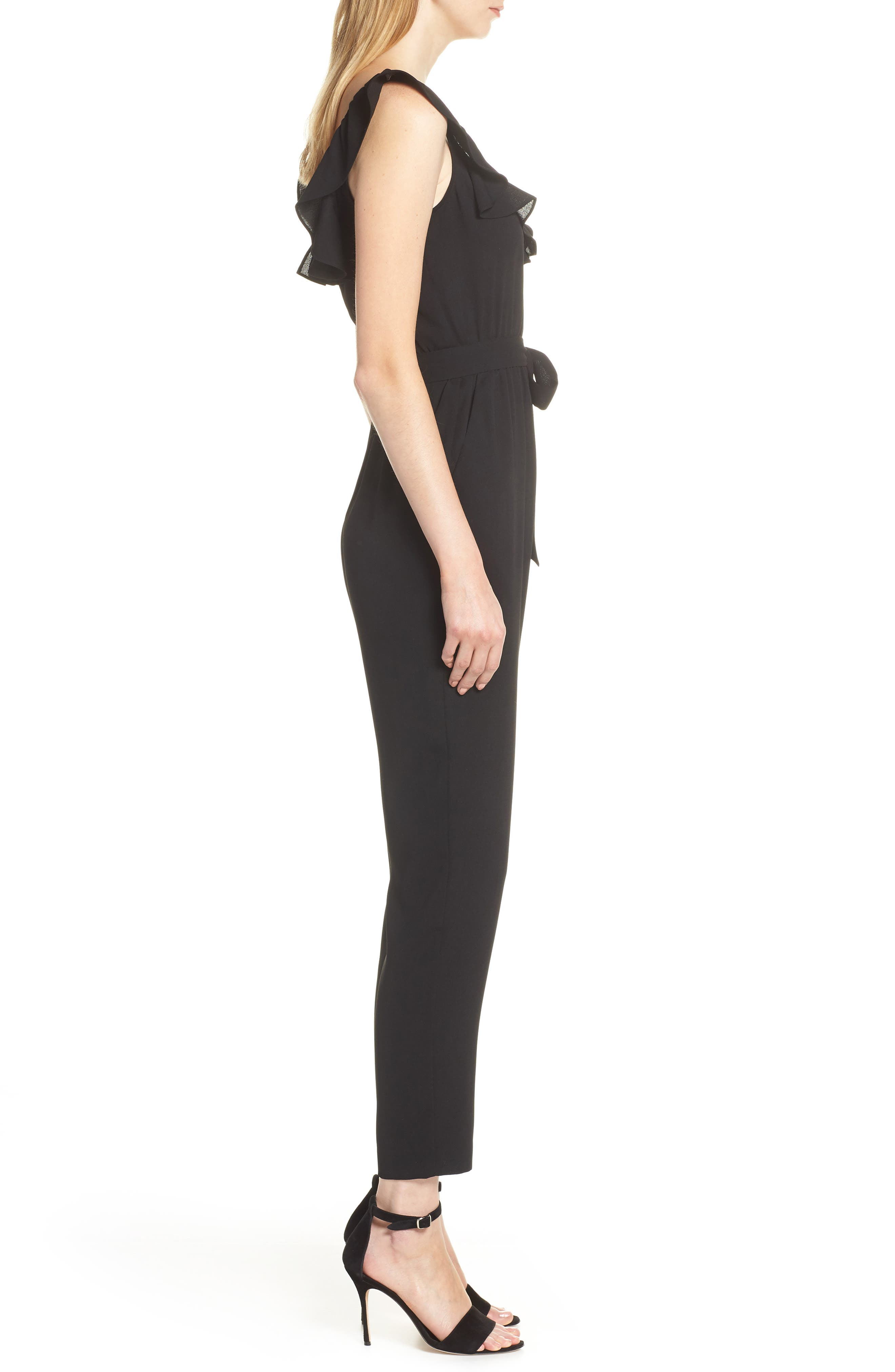ALI & JAY, Say You Will Stay Crepe Jumpsuit, Alternate thumbnail 4, color, BLACK
