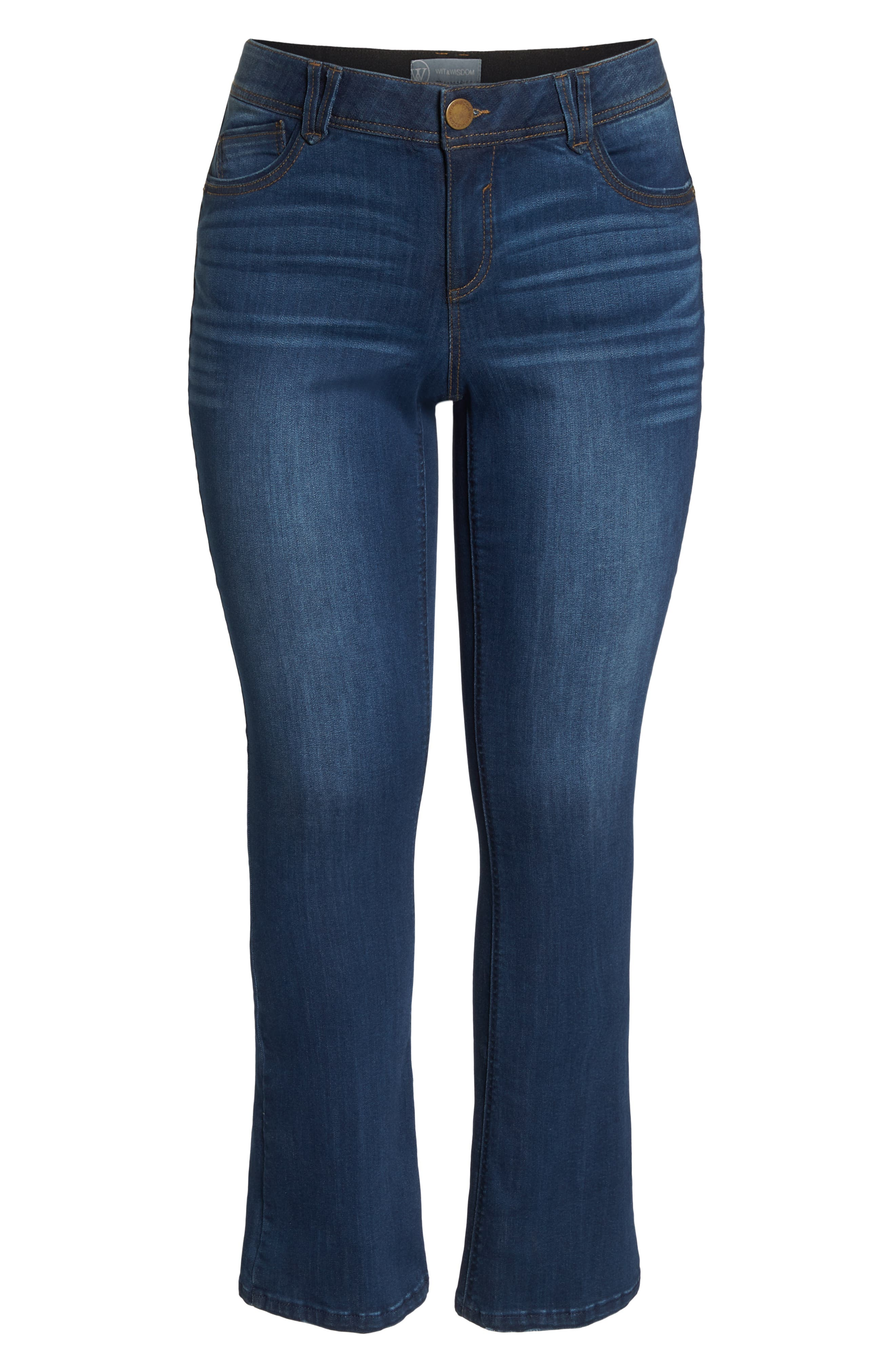 WIT & WISDOM, Ab-Solution Itty Bitty Bootcut Jeans, Alternate thumbnail 7, color, BLUE