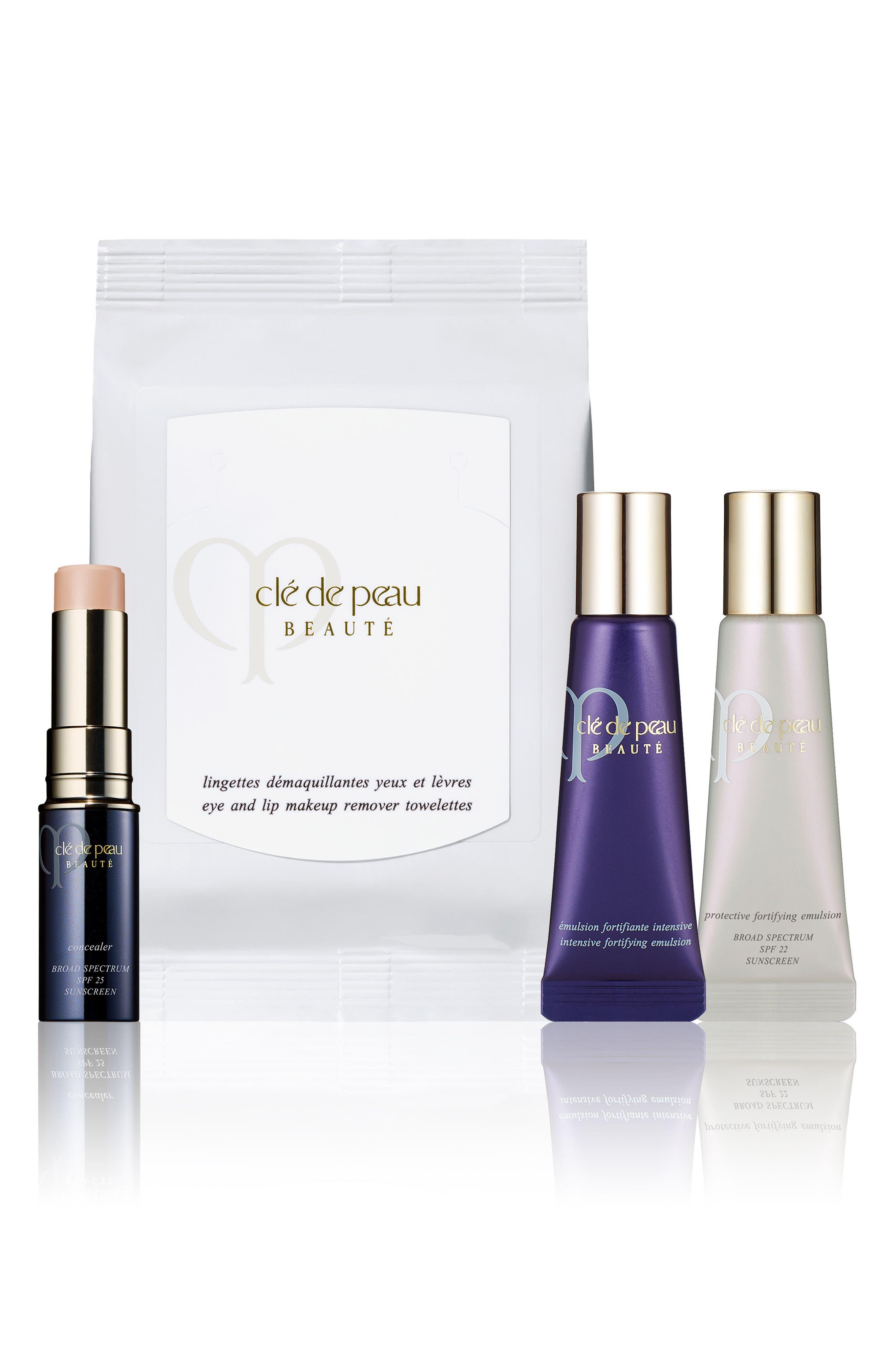 CLÉ DE PEAU BEAUTÉ Concealer & Skin Care Set, Main, color, NO COLOR