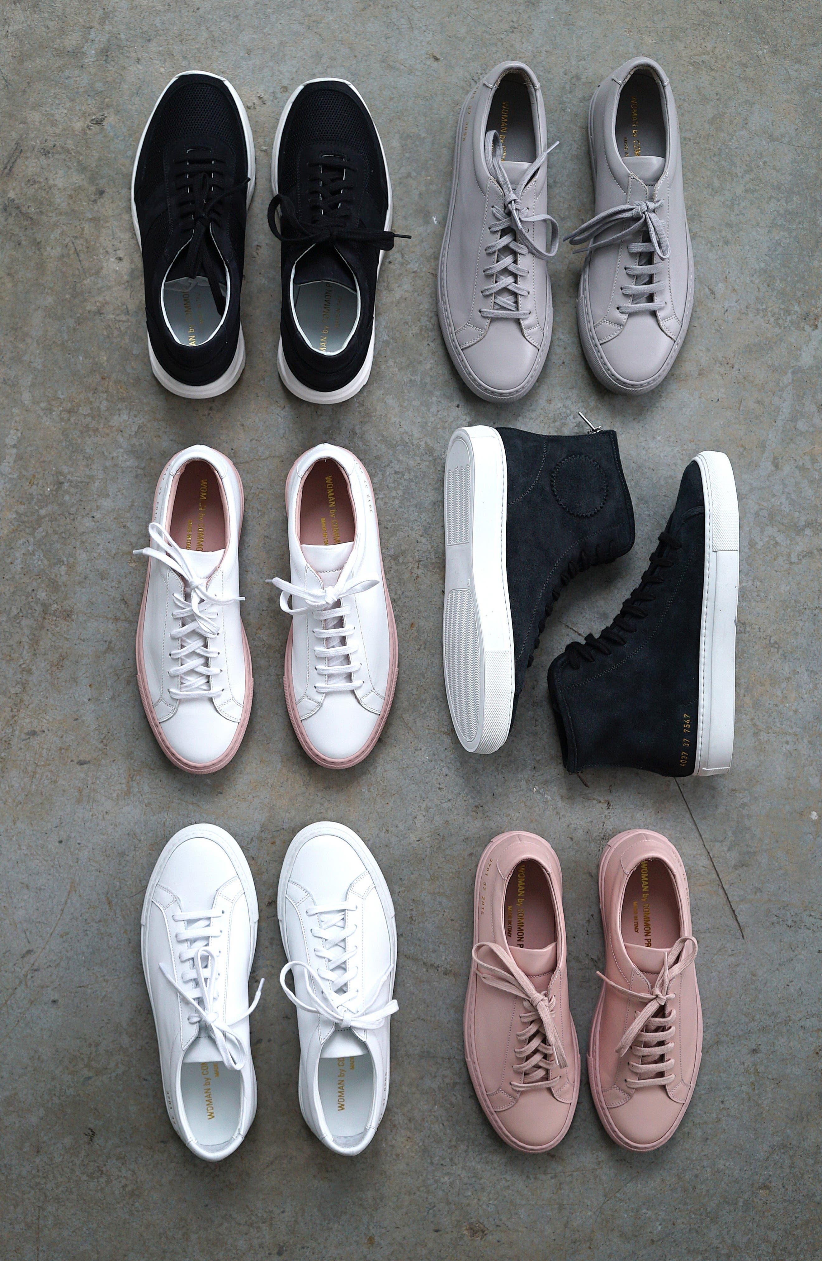 COMMON PROJECTS, Original Achilles Low Sneaker, Alternate thumbnail 8, color, BLACK