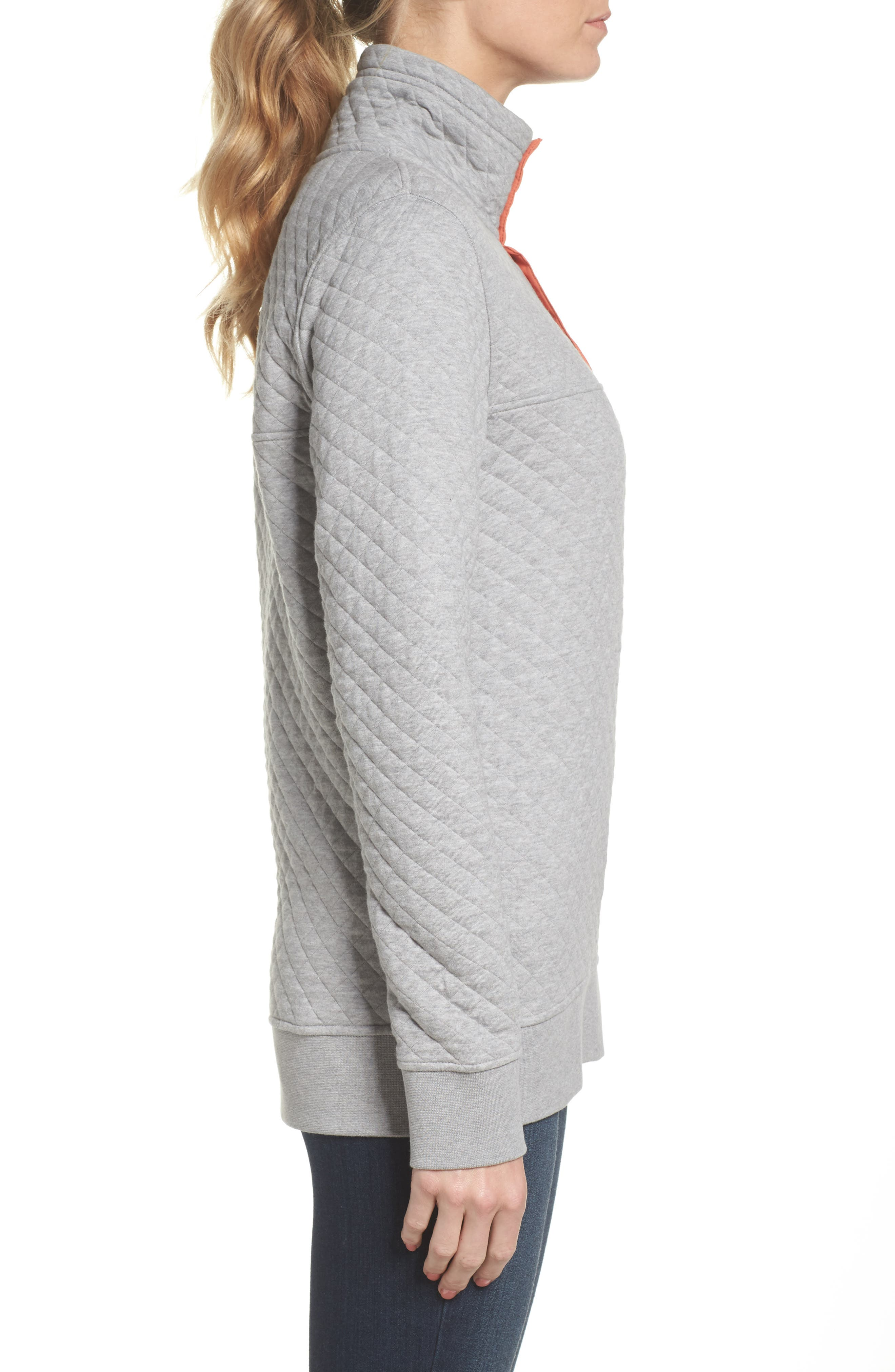 PATAGONIA, Snap-T<sup>®</sup> Quilted Pullover, Alternate thumbnail 4, color, 023
