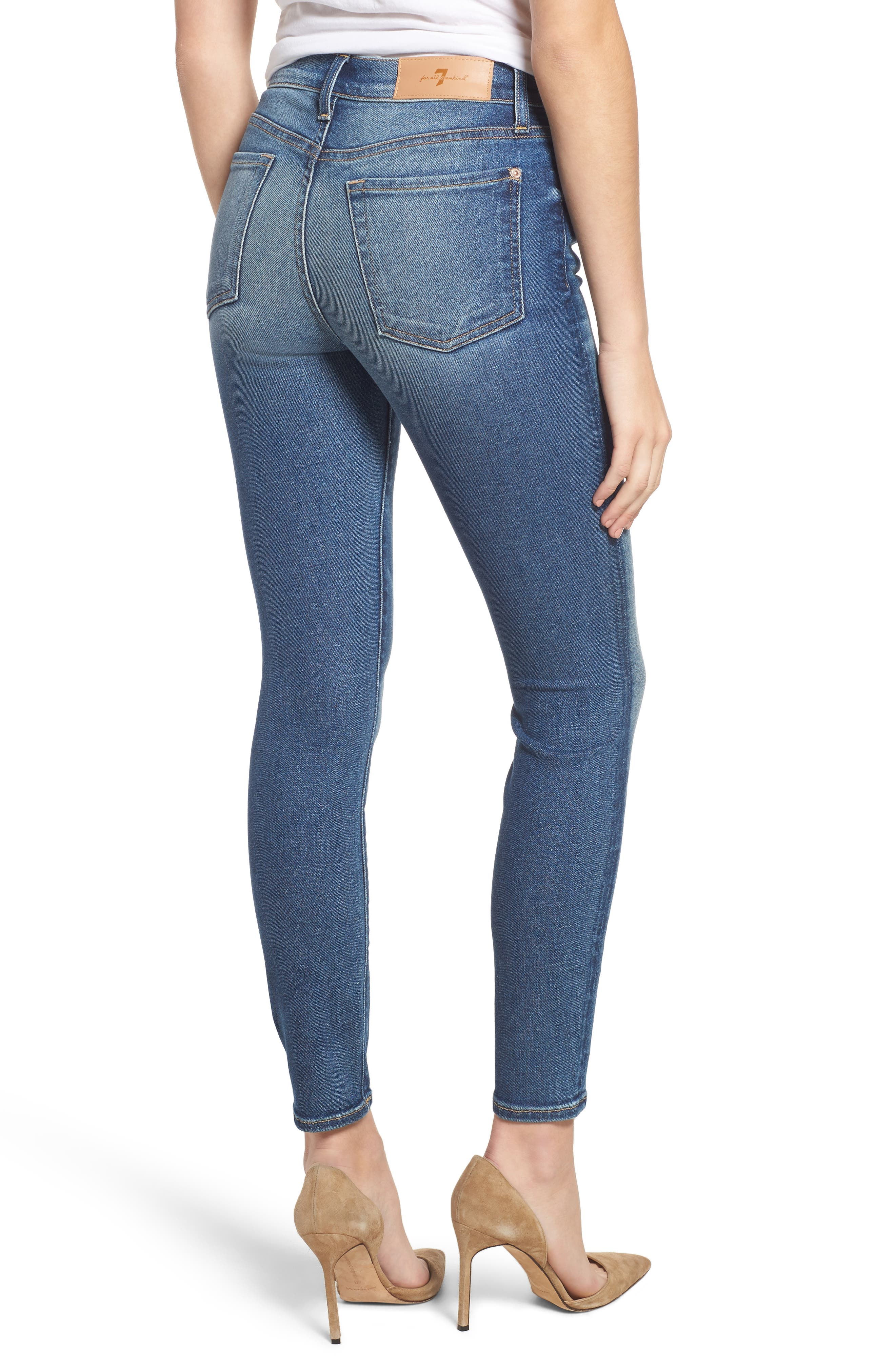 7 FOR ALL MANKIND<SUP>®</SUP>, Luxe Vintage The Ankle Skinny Jeans, Alternate thumbnail 2, color, LUXE VINTAGE FEMME