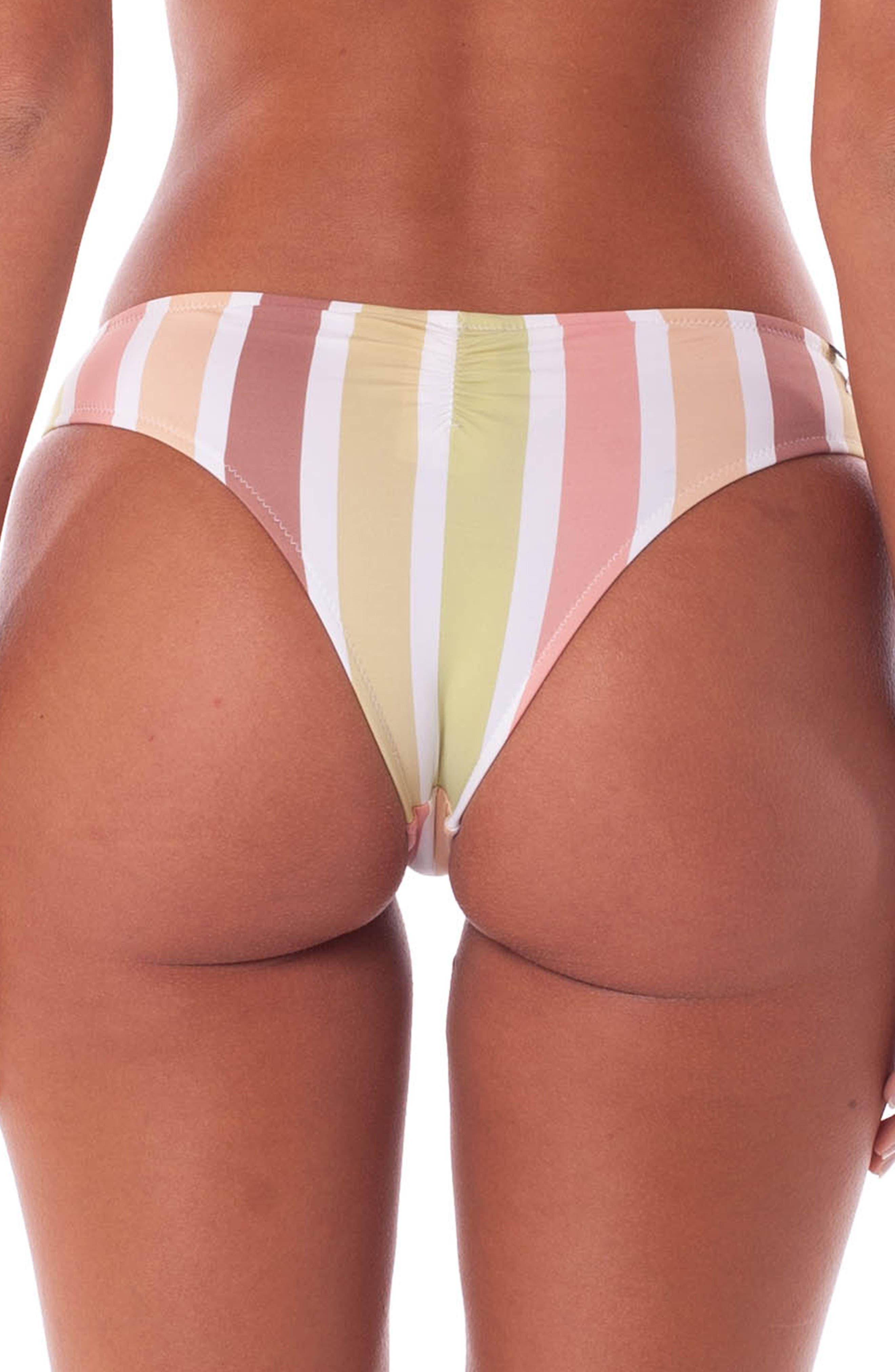 RHYTHM, Zimbabwe Cheeky Bikini Bottoms, Alternate thumbnail 2, color, 956