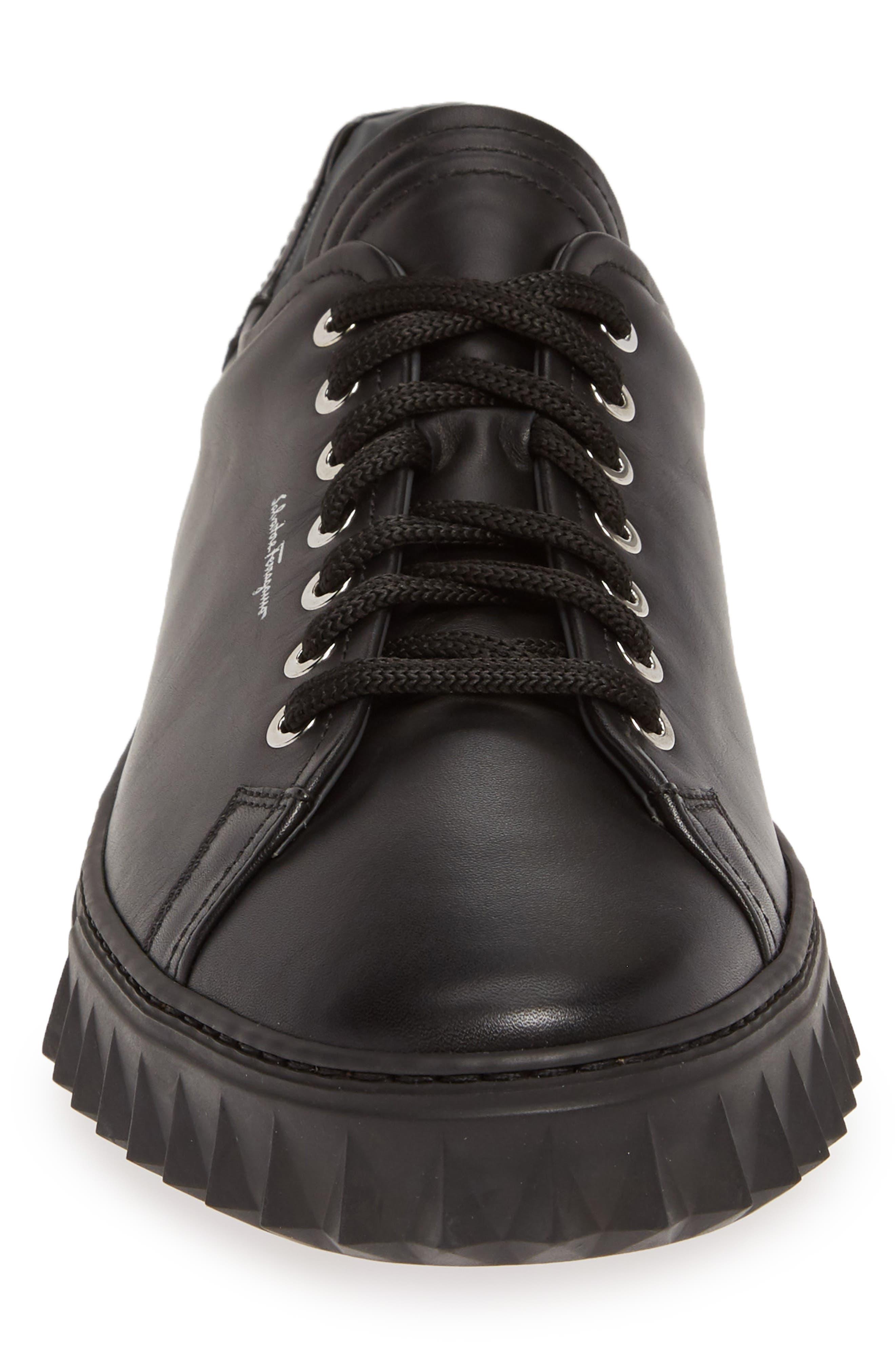 SALVATORE FERRAGAMO, Cube Sneaker, Alternate thumbnail 4, color, NERO/BLACK