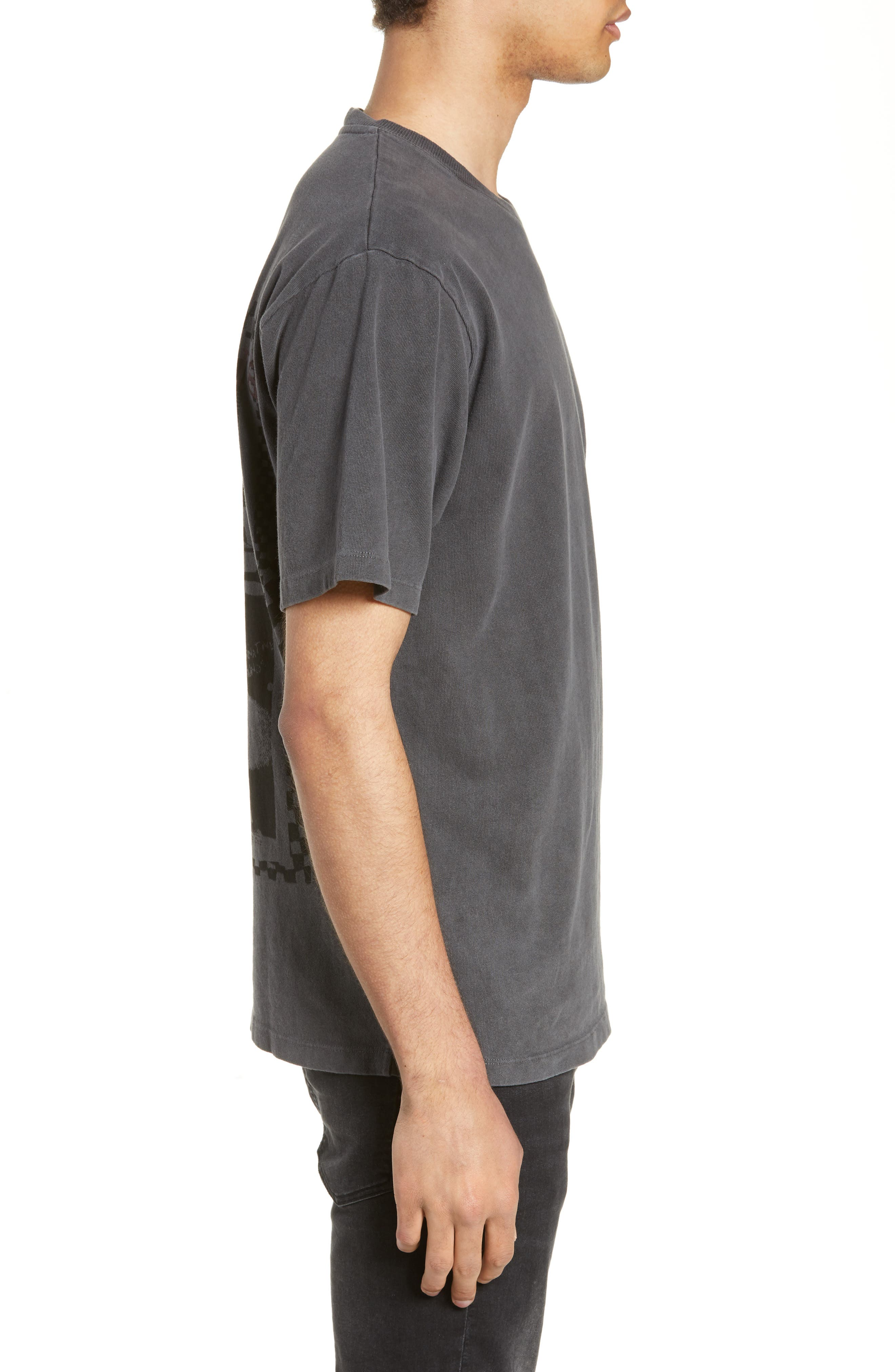 THE KOOPLES, Graphic T-Shirt, Alternate thumbnail 3, color, WASHED GREY