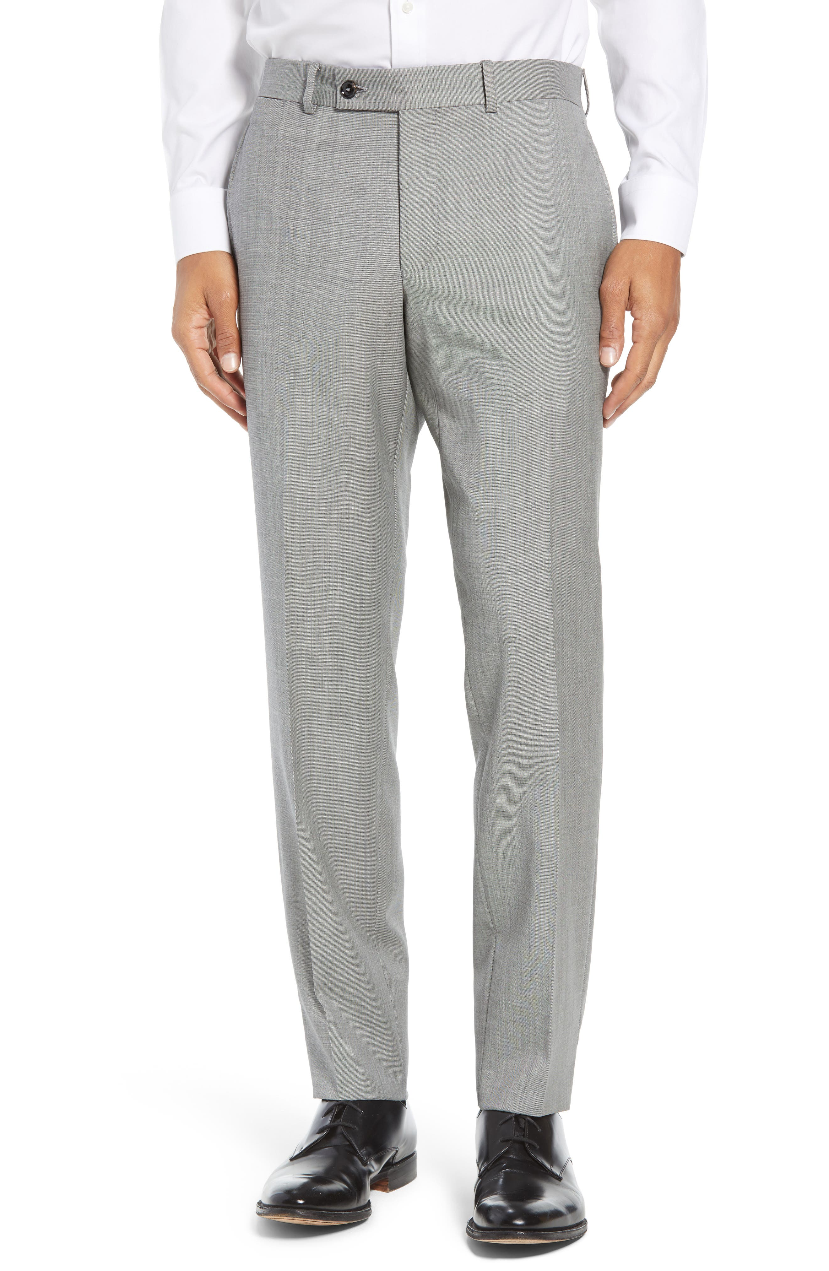 TED BAKER LONDON, Jay Trim Fit Solid Wool Suit, Alternate thumbnail 6, color, LIGHT GREY