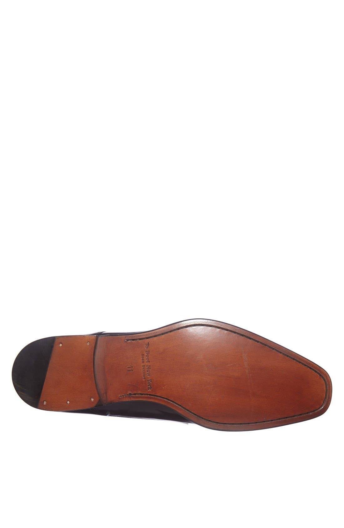 TO BOOT NEW YORK, 'Grant' Double Monk Shoe, Alternate thumbnail 3, color, BLACK CALFSKIN