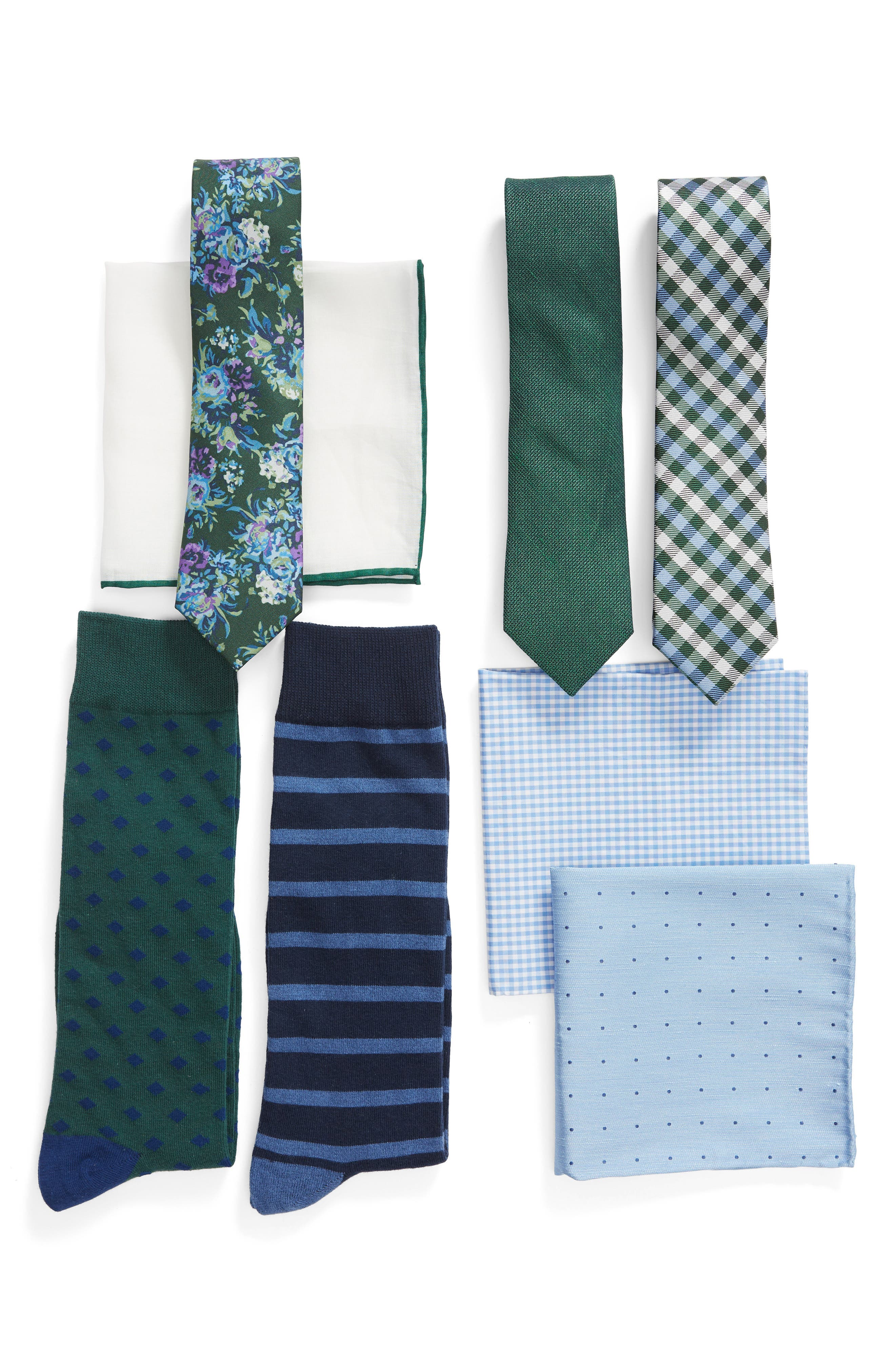 THE TIE BAR Green Large Style Box, Main, color, GREEN