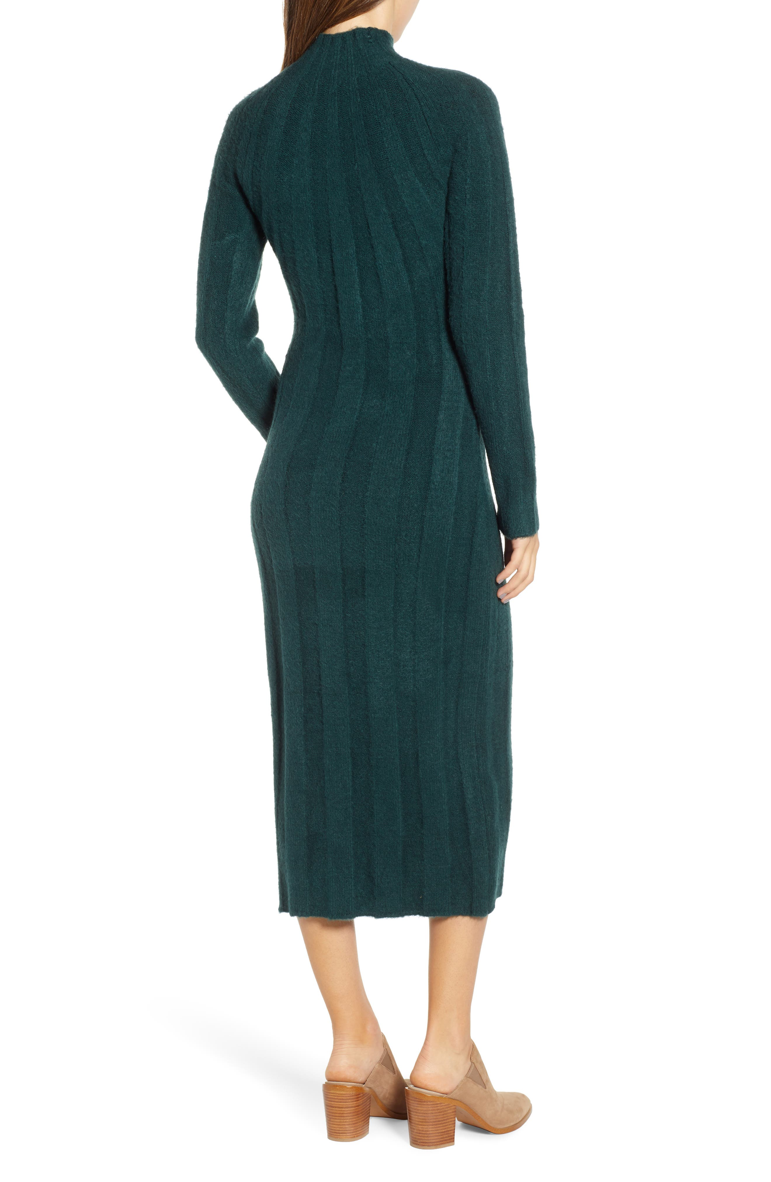 4SI3NNA, Wide Rib Sweater Dress, Alternate thumbnail 2, color, 300
