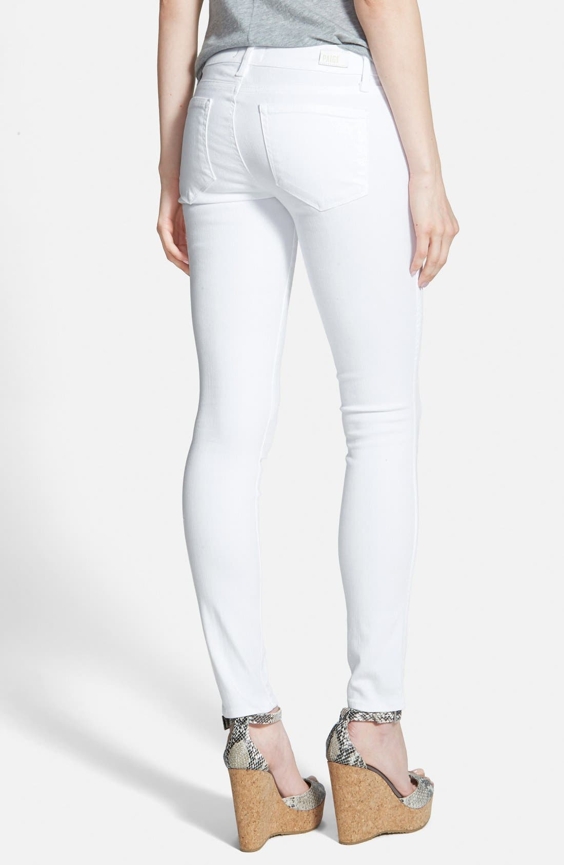 PAIGE, 'Verdugo' Ultra Skinny Jeans, Alternate thumbnail 2, color, 100