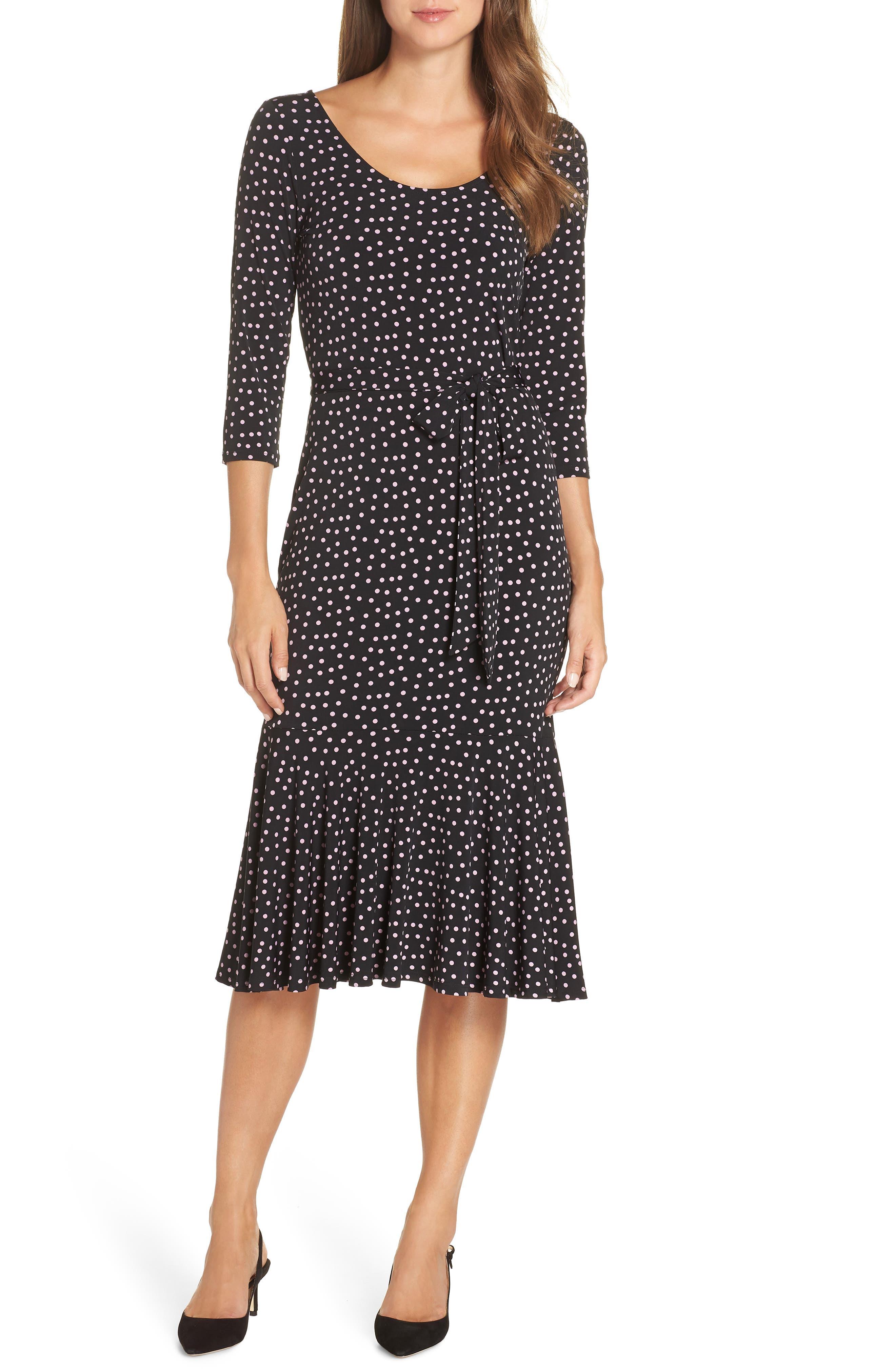 Leota Sadie Midi Dress, Black