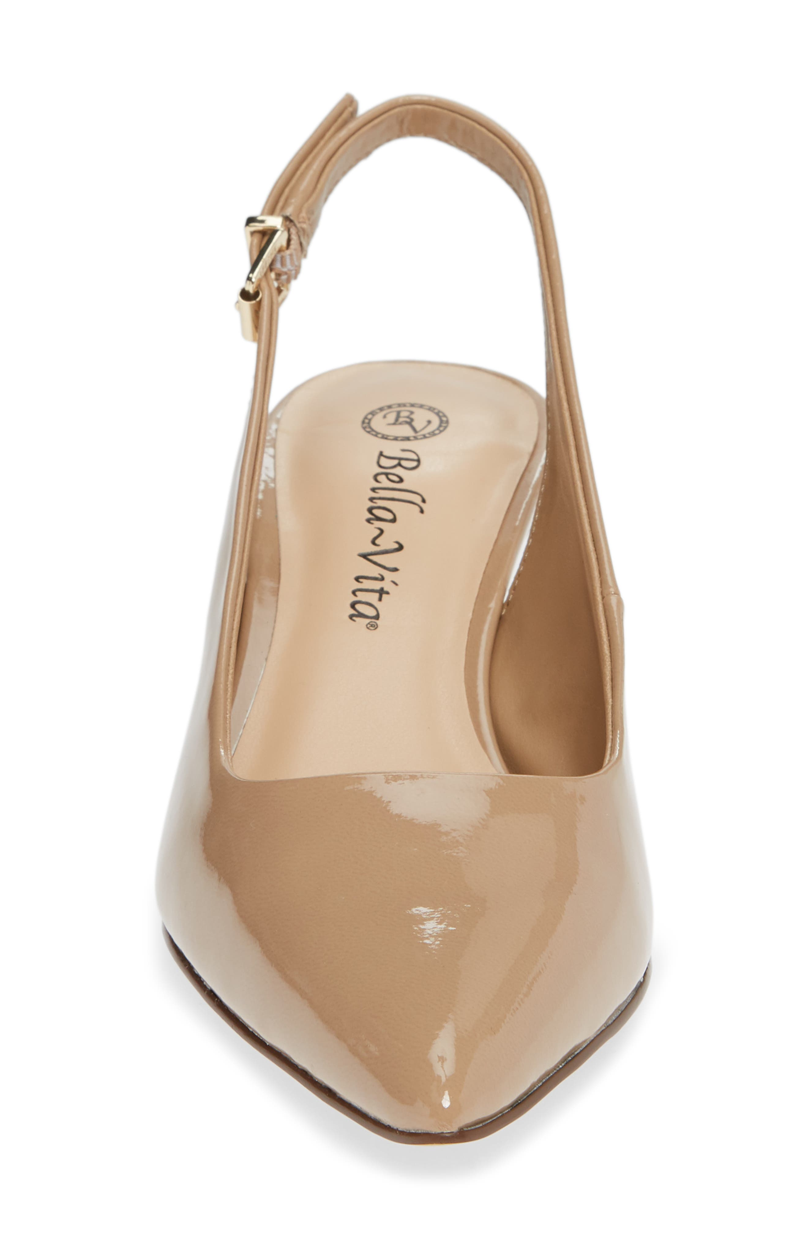 BELLA VITA, Scarlette Slingback Pump, Alternate thumbnail 4, color, NUDE PATENT