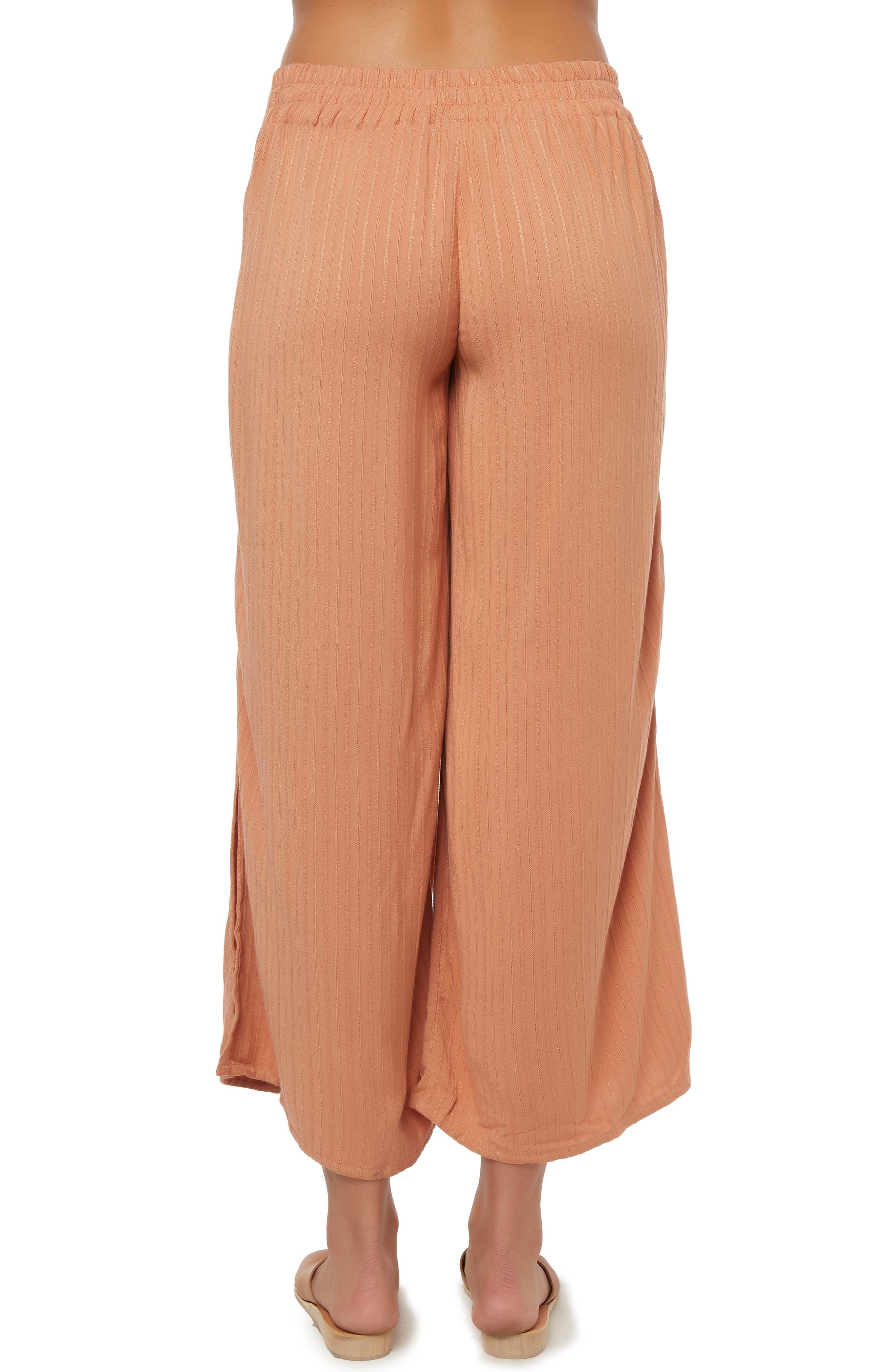 O'NEILL, Rayna Wide Leg Crop Pants, Alternate thumbnail 2, color, CORK