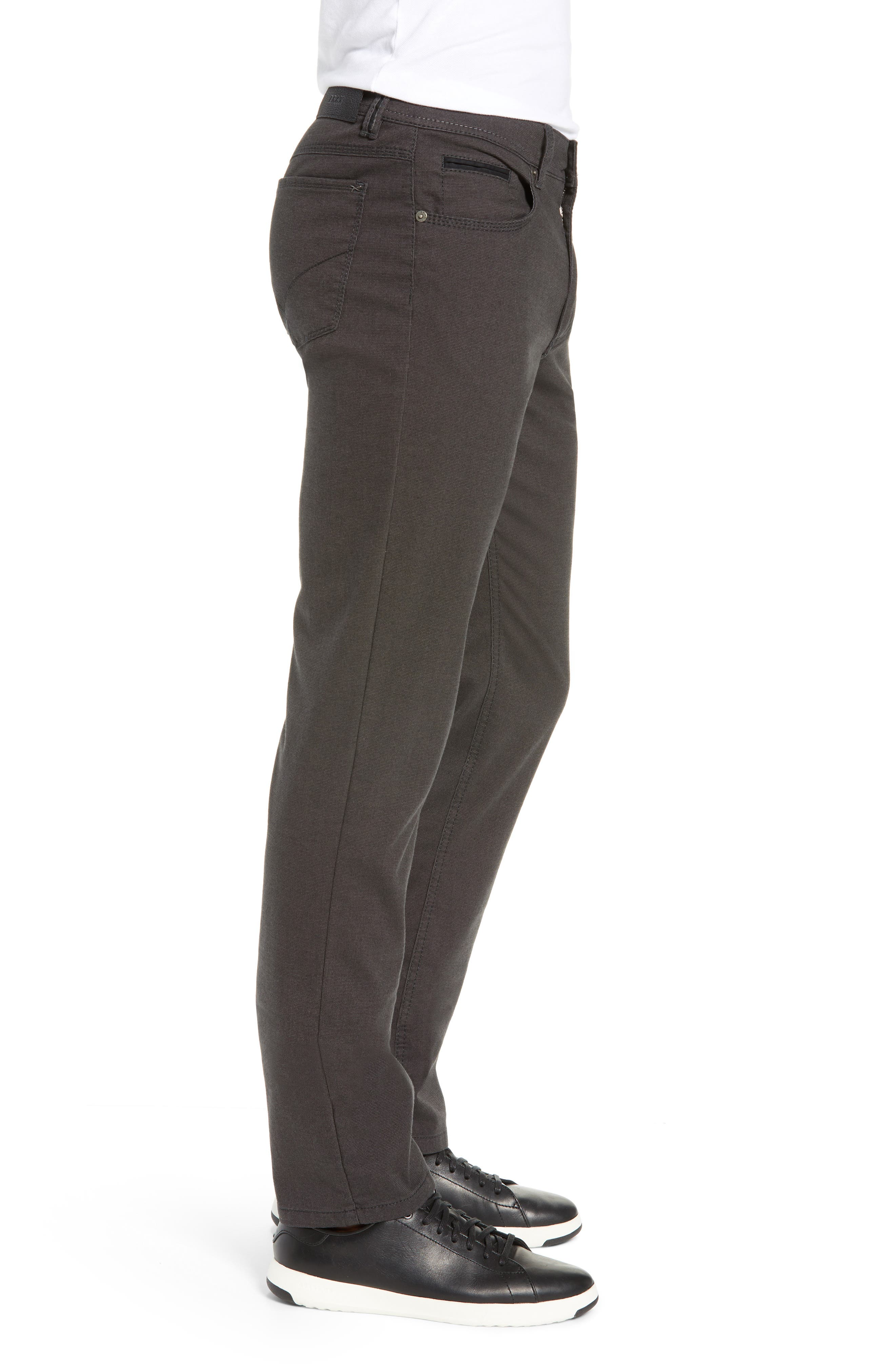 BRAX, Woolook Classic Fit Flat Front Pants, Alternate thumbnail 4, color, ANTHRA