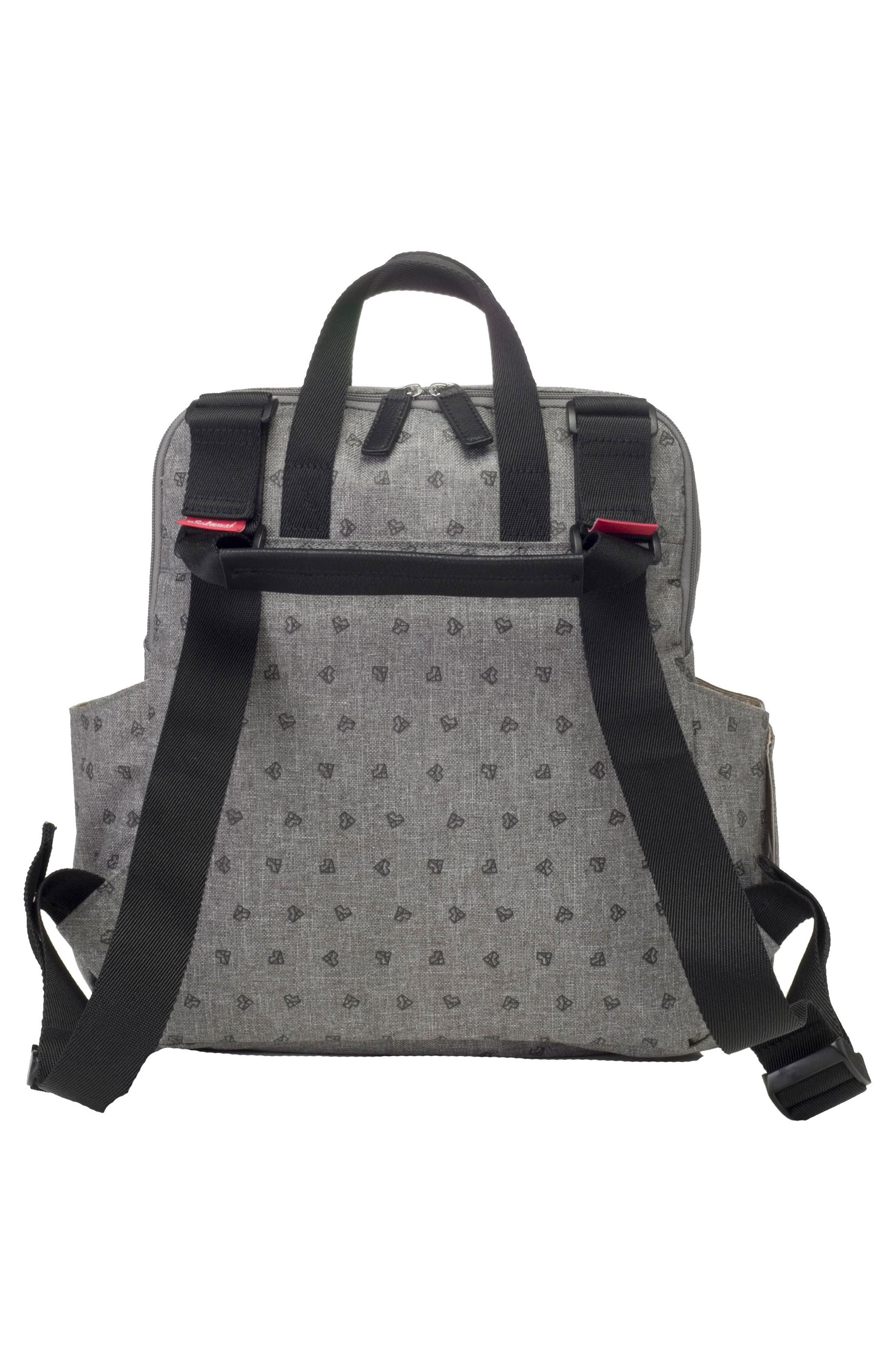 BABYMEL, Robyn Convertible Diaper Backpack, Alternate thumbnail 10, color, GREY ORIGAMI HEART