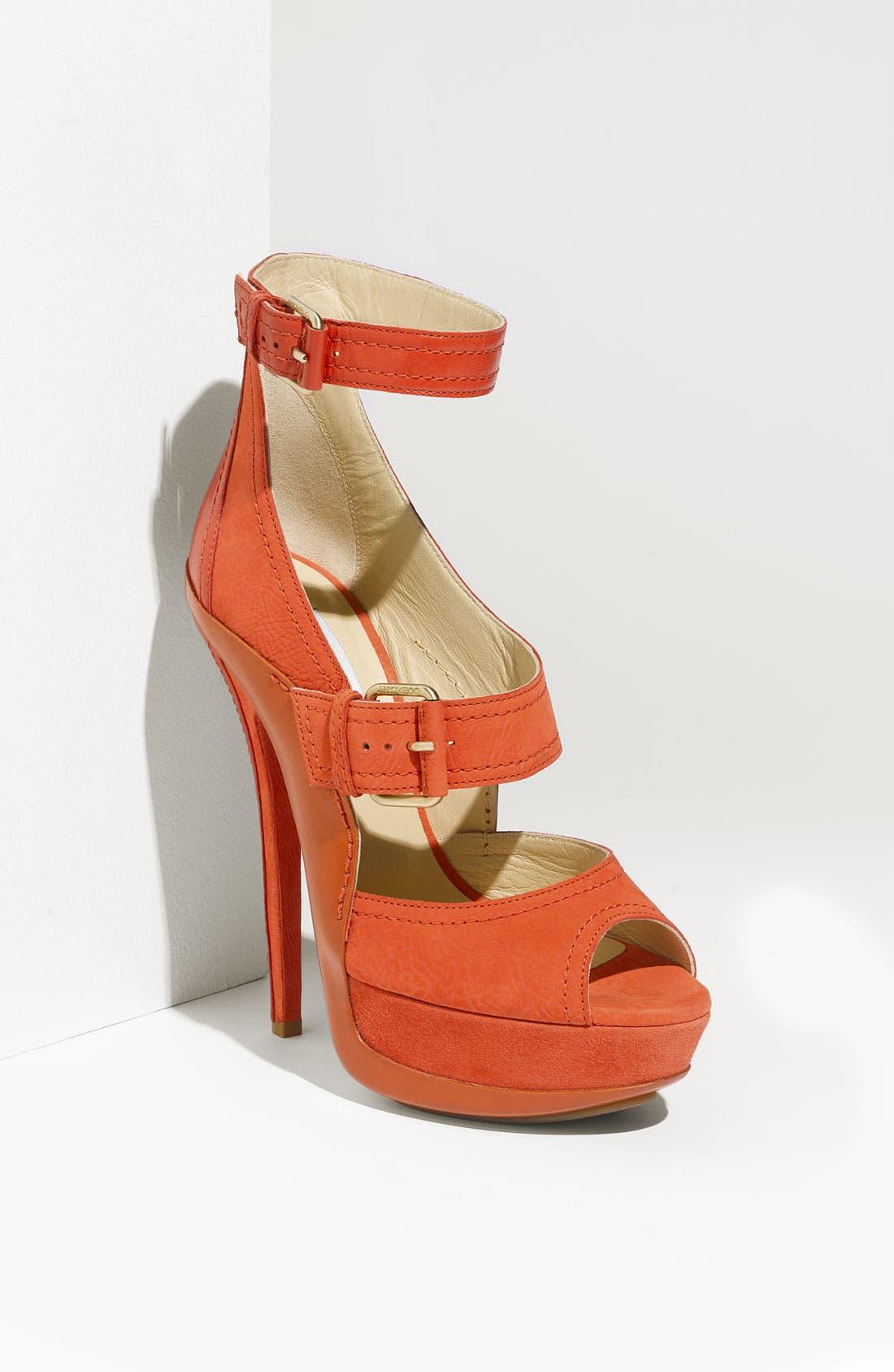 JIMMY CHOO 'Letitia' Buckle Sandal, Main, color, 950