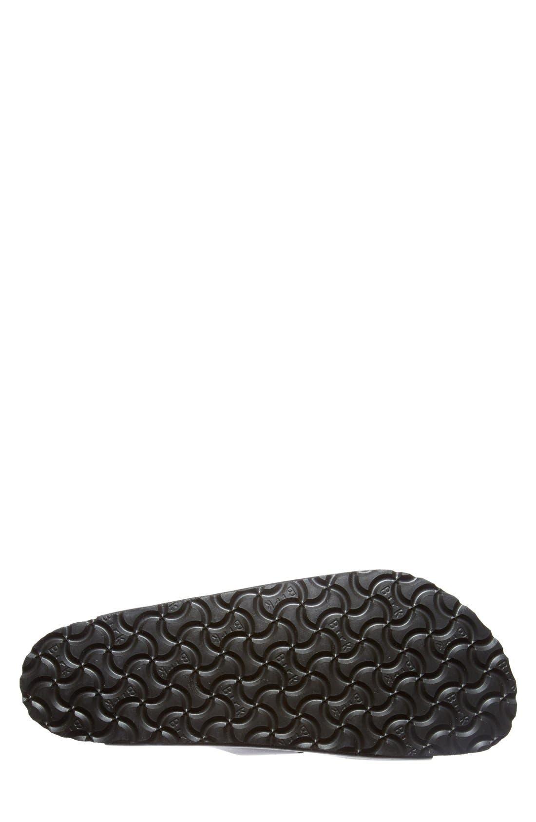 BIRKENSTOCK, 'Arizona Soft' Sandal, Alternate thumbnail 4, color, BLACK