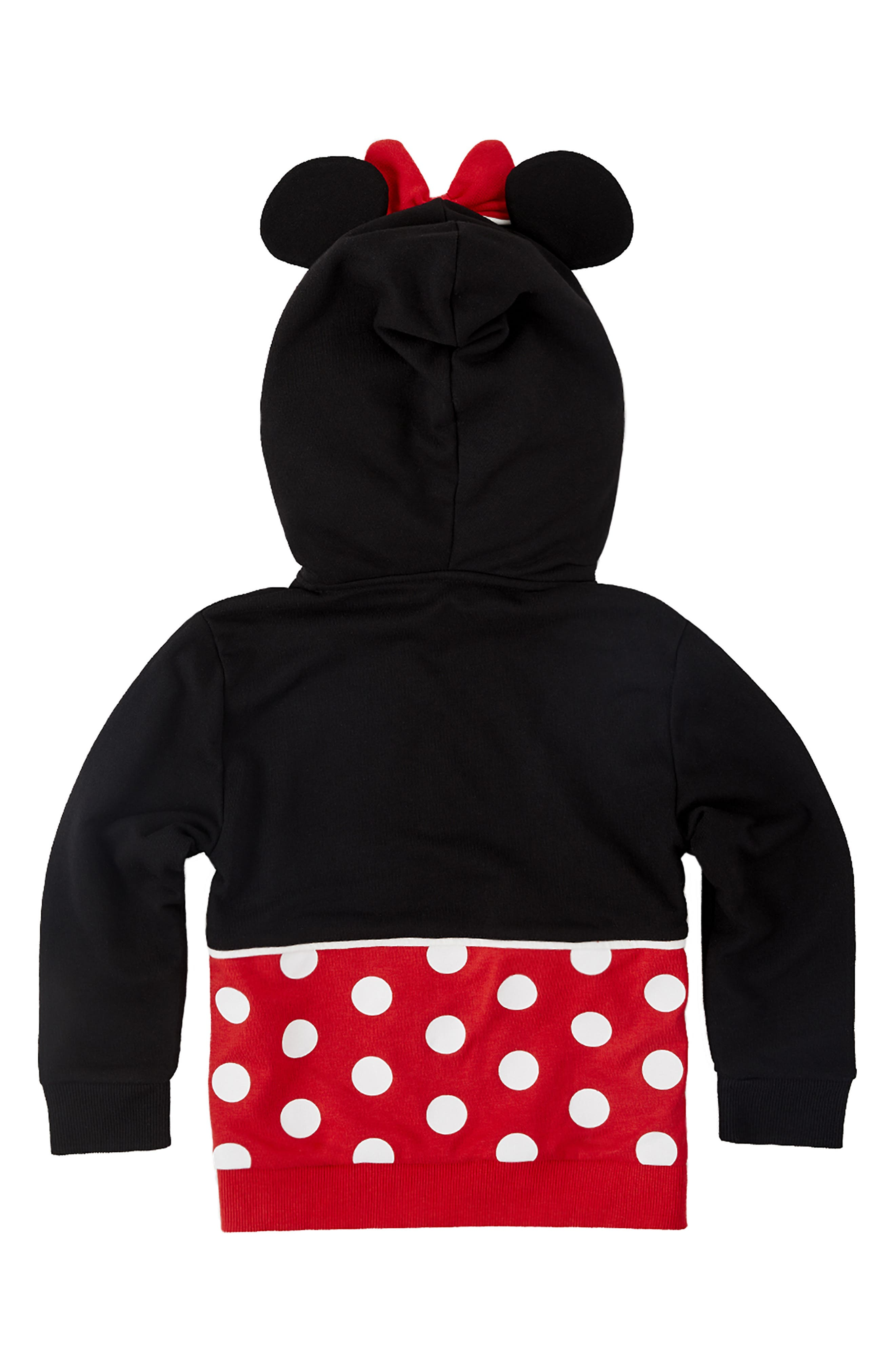 CUBCOATS, Disney Minnie Mouse 2-in-1 Stuffed Animal Hoodie, Alternate thumbnail 4, color, 001