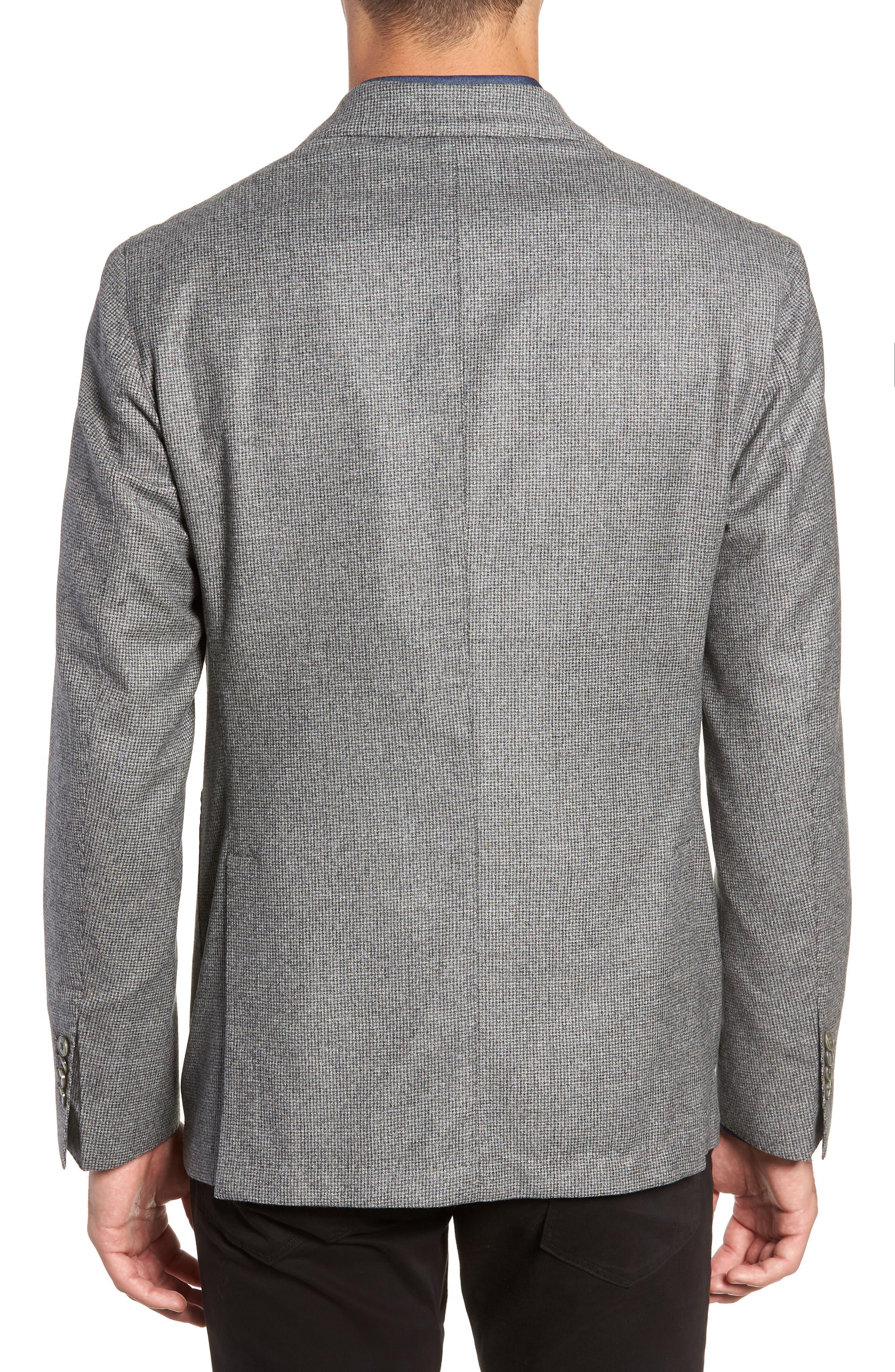 L.B.M. 1911, L.B.M 1911 Classic Fit Check Wool Sport Coat, Alternate thumbnail 2, color, GREY