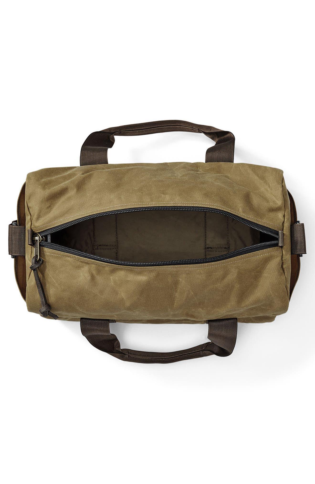 FILSON, Small Field Duffle Bag, Alternate thumbnail 2, color, DARK TAN/ BROWN