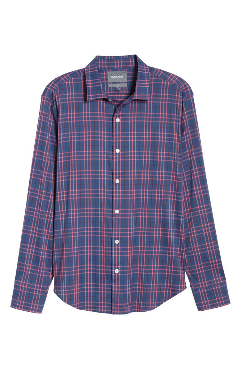 657edce311 Bonobos Slim Fit Check Tech Sport Shirt In Arrowhead Check - Pink ...