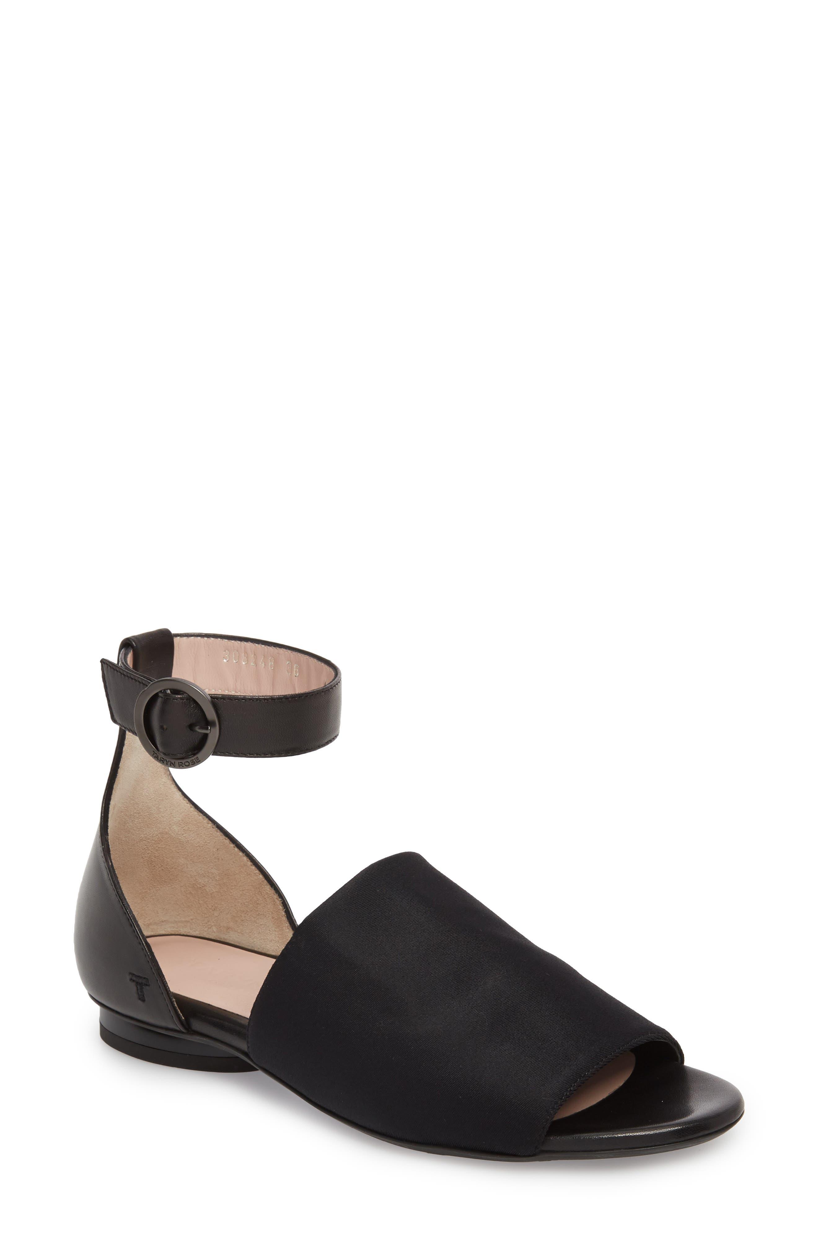 Taryn Rose Collection Donya Ankle Strap Sandal- Black