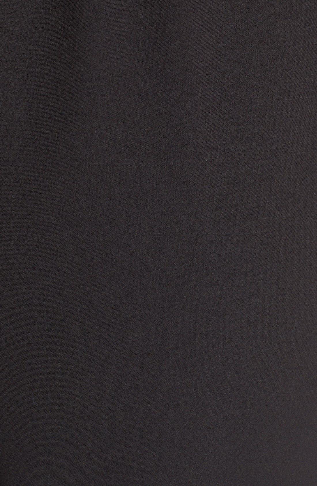 PARKER, 'Patrick' Strapless Jumpsuit, Alternate thumbnail 4, color, 001