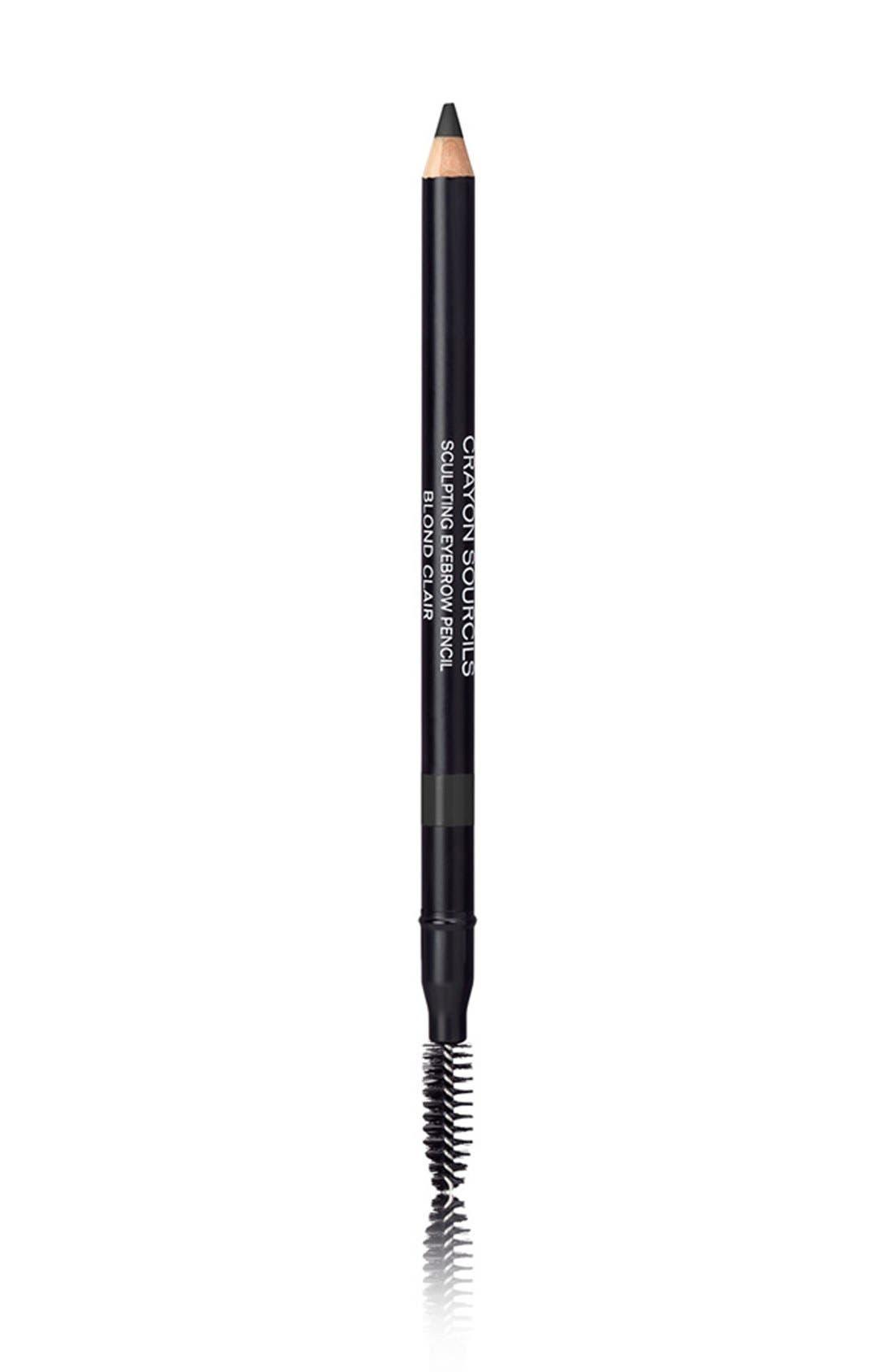 CHANEL, CRAYON SOURCILS<br />Sculpting Eyebrow Pencil, Alternate thumbnail 3, color, 60 NOIR CENDRE