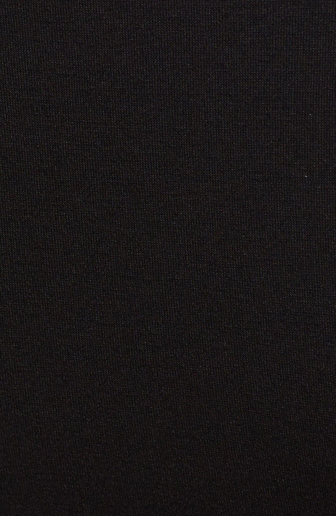 MATERNAL AMERICA, 'Mini Sweetheart' Dress, Alternate thumbnail 3, color, BLACK