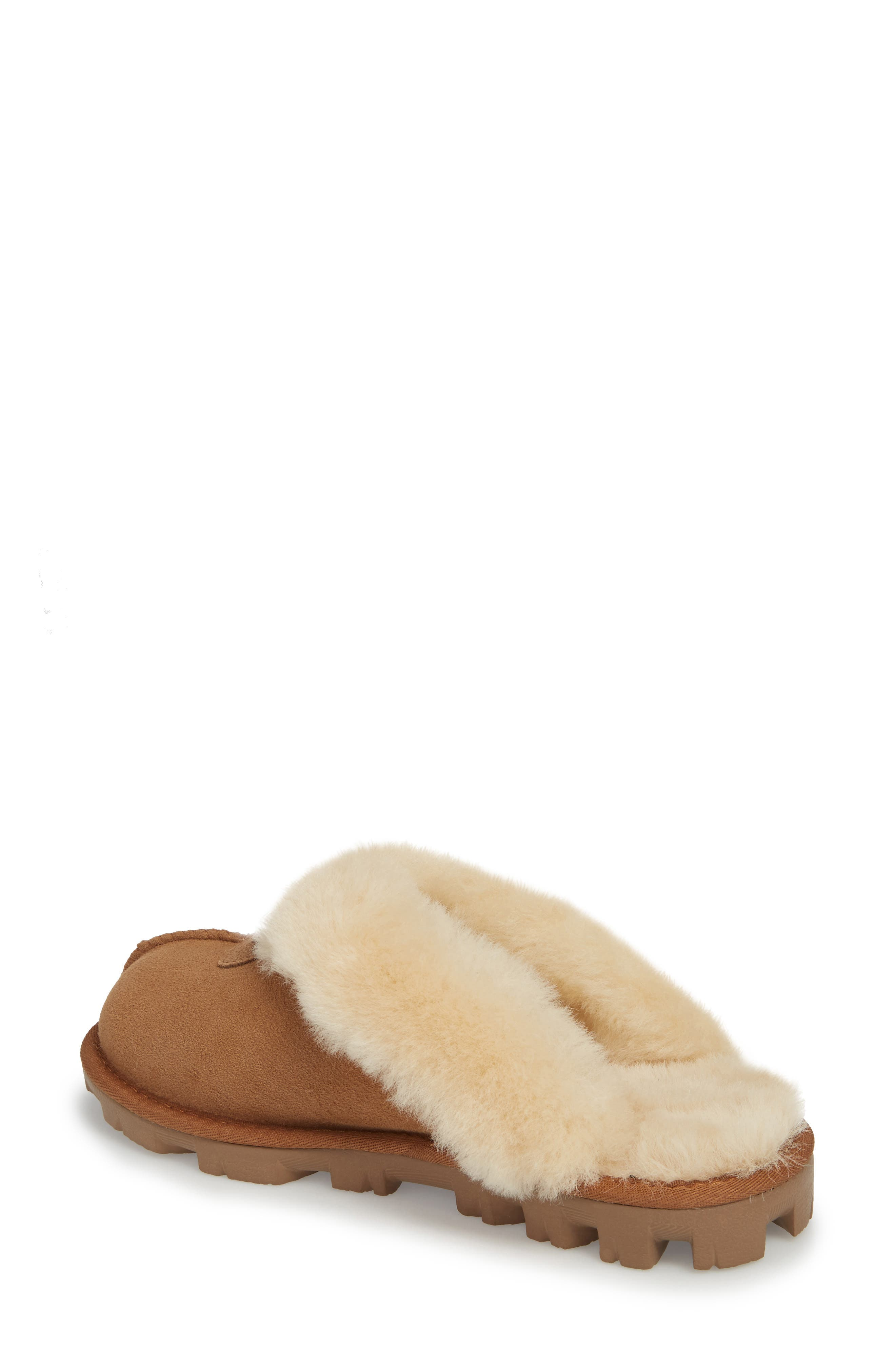 UGG<SUP>®</SUP>, Genuine Shearling Slipper, Alternate thumbnail 2, color, CHESTNUT