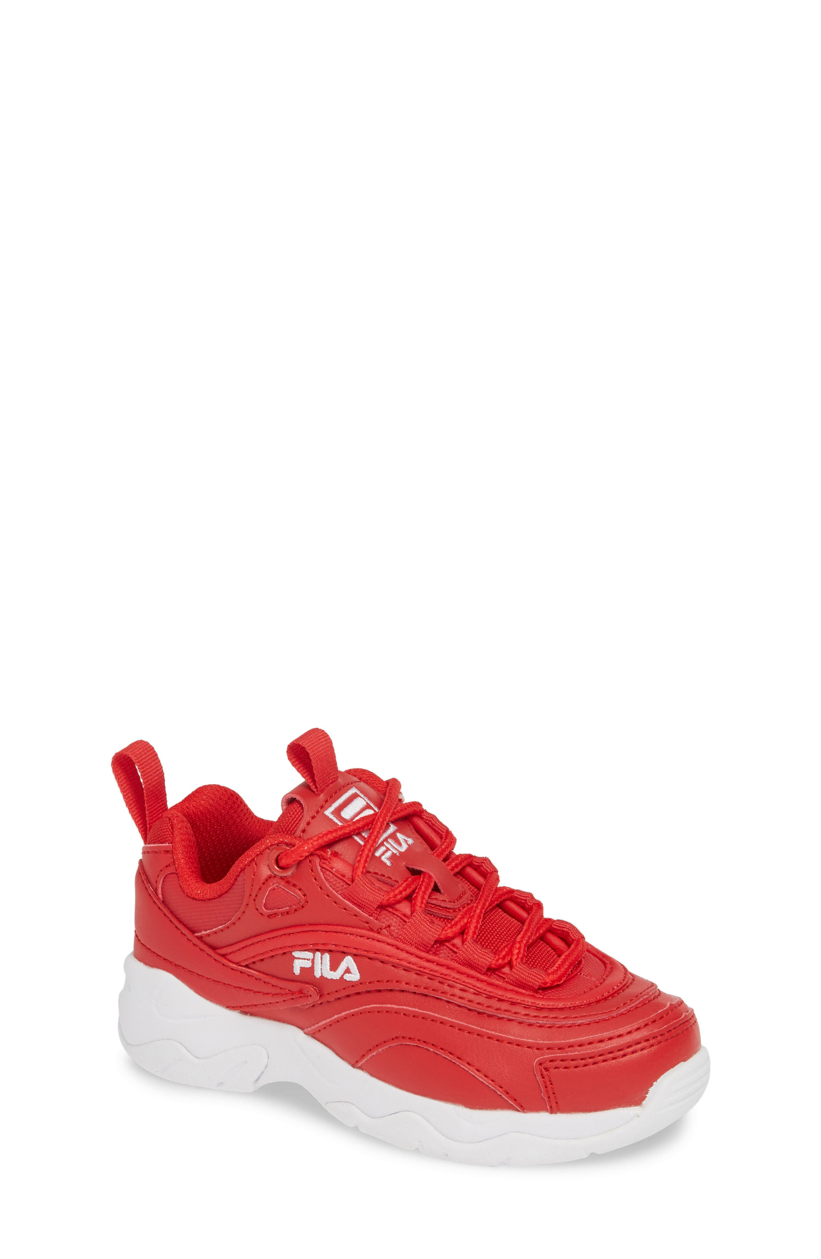 Toddler Fila Ray Sneaker Size 105 M  Red
