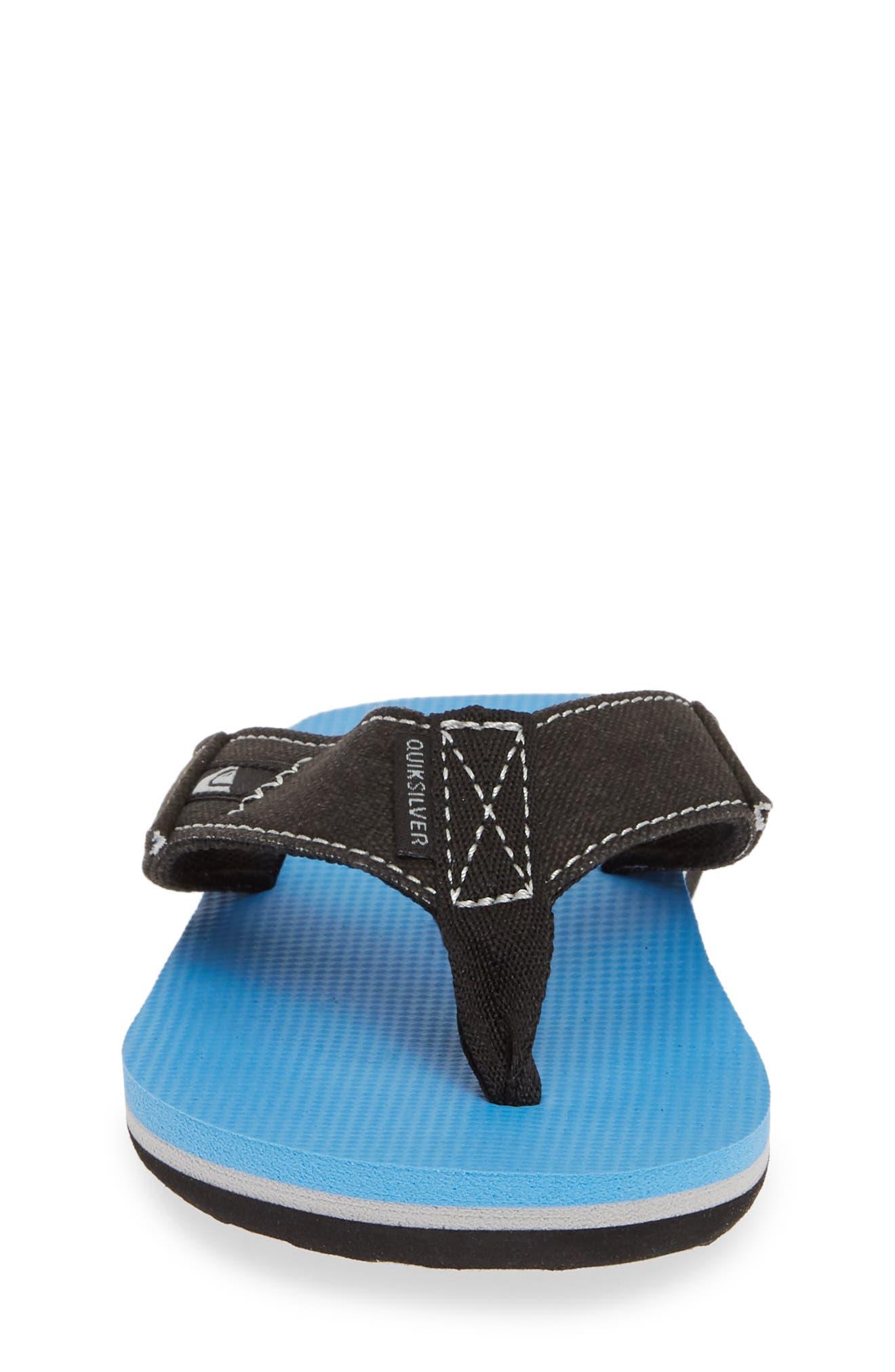QUIKSILVER, Molokai Abyss Flip Flop, Alternate thumbnail 4, color, BLACK/ BLUE/ BLACK
