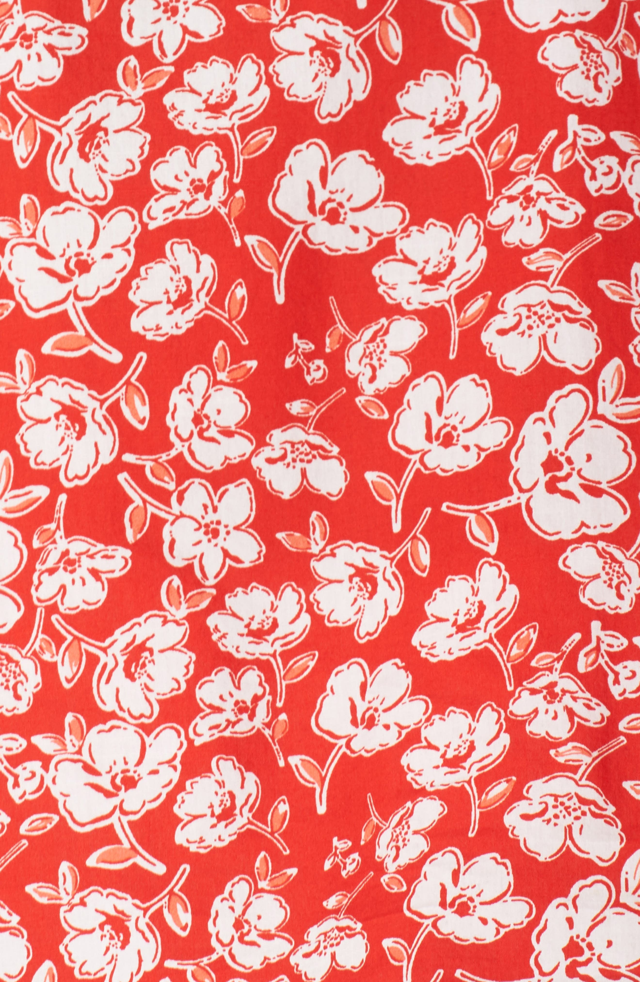 CASLON<SUP>®</SUP>, Floral Print Pintuck Pleat Top, Alternate thumbnail 5, color, RED SCARLET FLORAL