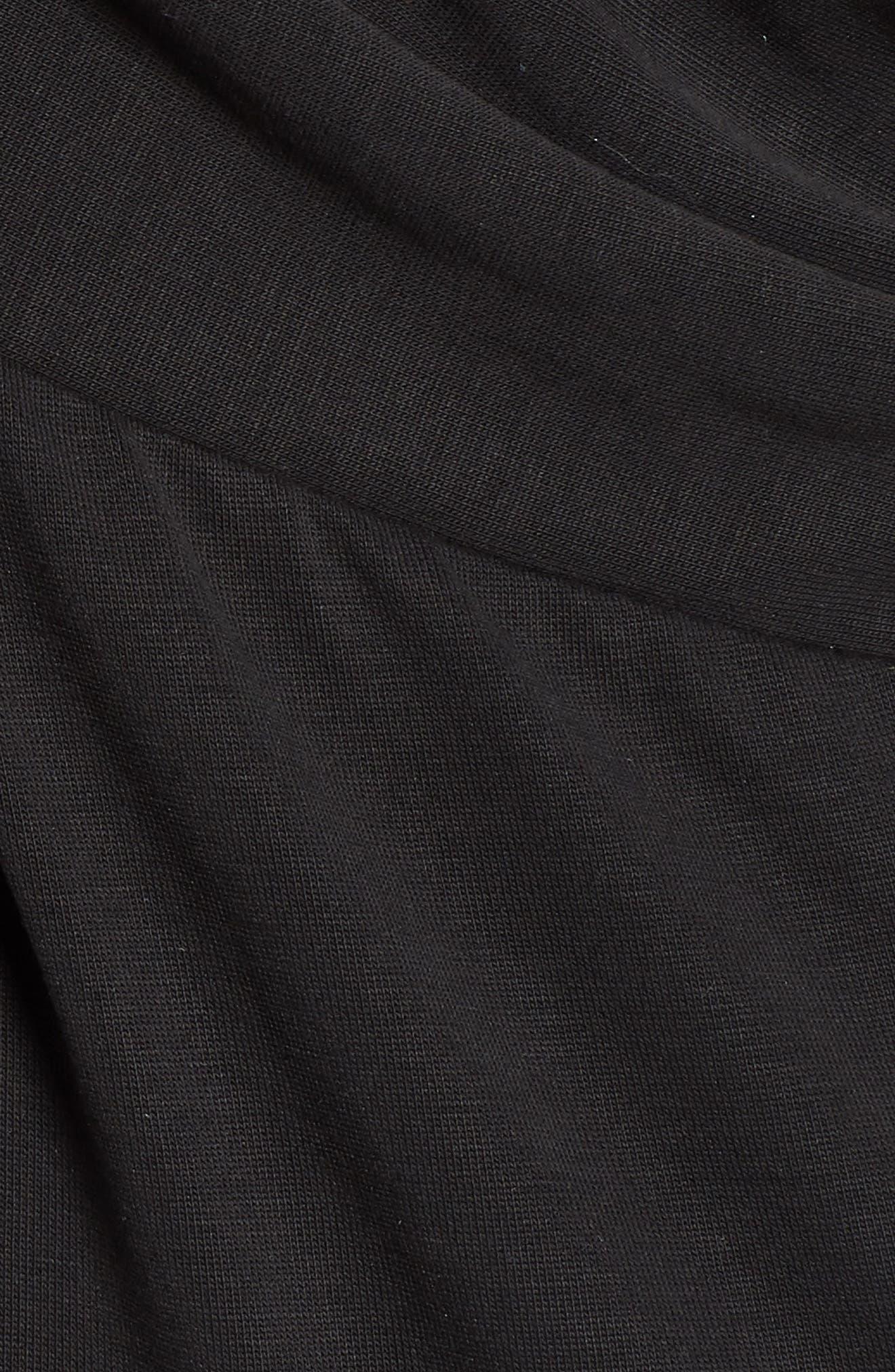 HALOGEN<SUP>®</SUP>, Cross Front Knit Tank, Alternate thumbnail 5, color, BLACK