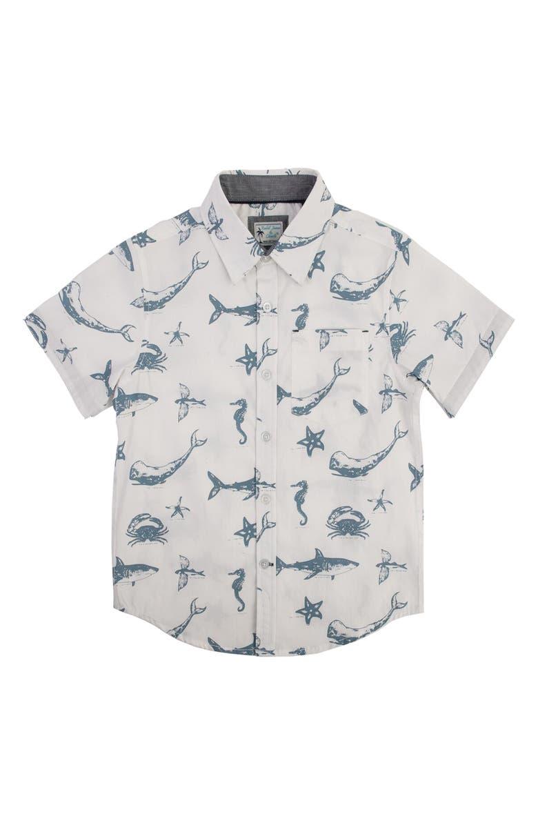 79cc3dc5e5f Rebel James   Charli Sea Life Print Woven Shirt (Little Boys ...